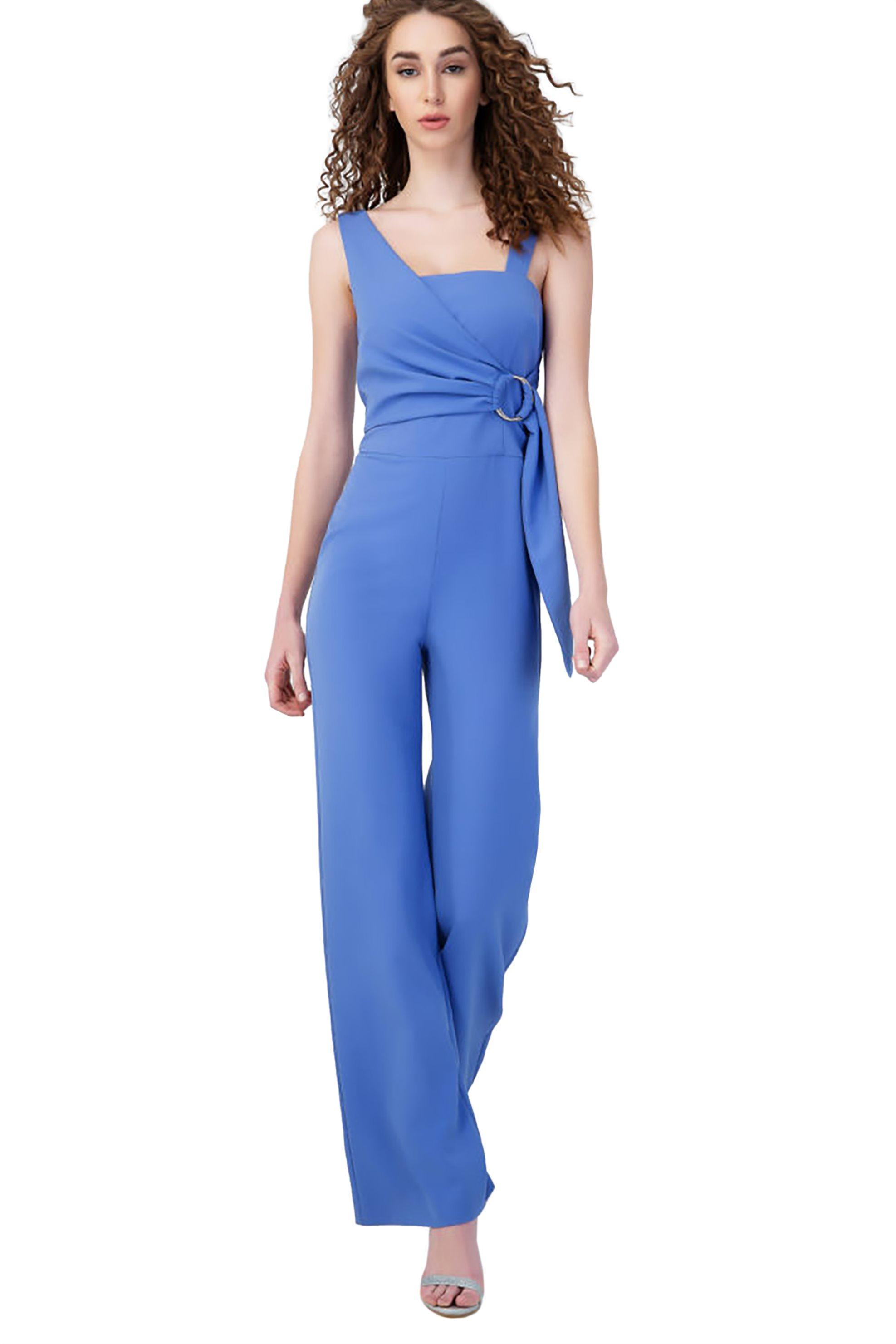 Billy Sabbado γυναικεία ολόσωμη φόρμα με δέσιμο - 0290493154 - Μπλε γυναικα   ρουχα   ολόσωμες φόρμες   σαλοπέτες