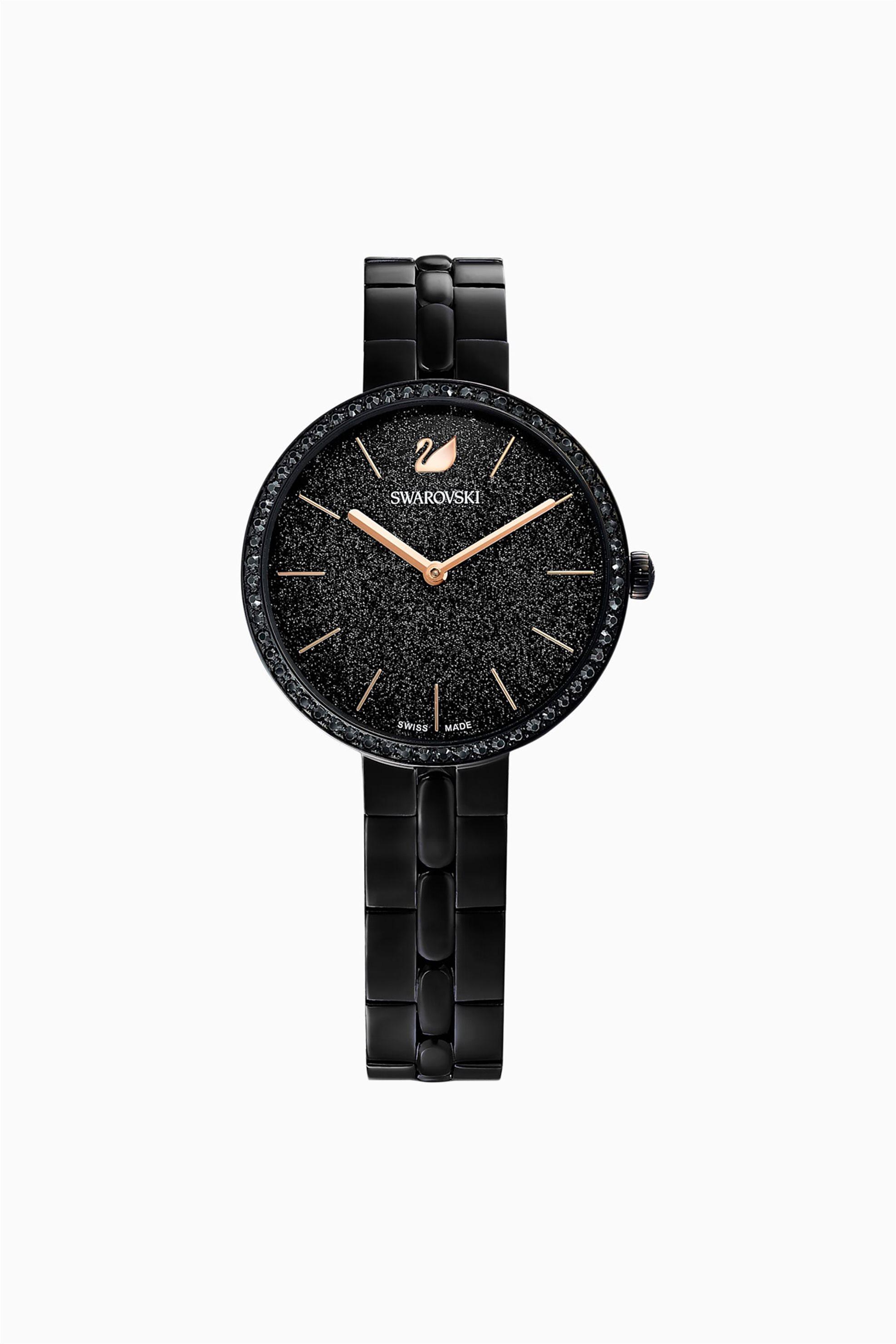 Swarovski Cosmopolitan Watch, Metal Bracelet, Black, Black PVD - 5547646 - Μαύρο