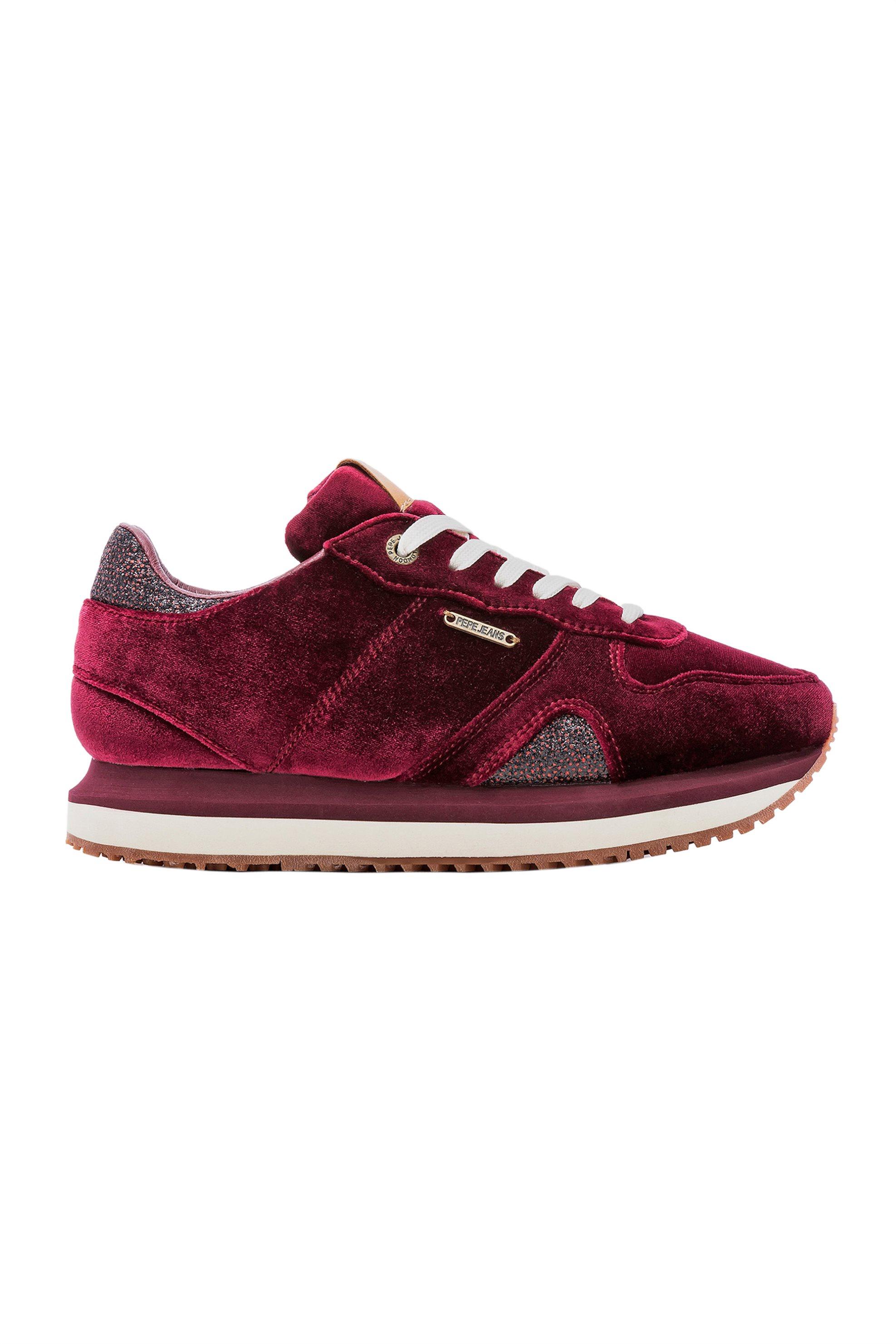 1f97b2ce22f -30% Notos Pepe Jeans γυναικεία παπούτσια trainers Zion Velvet – PLS30786 –  Μπορντό