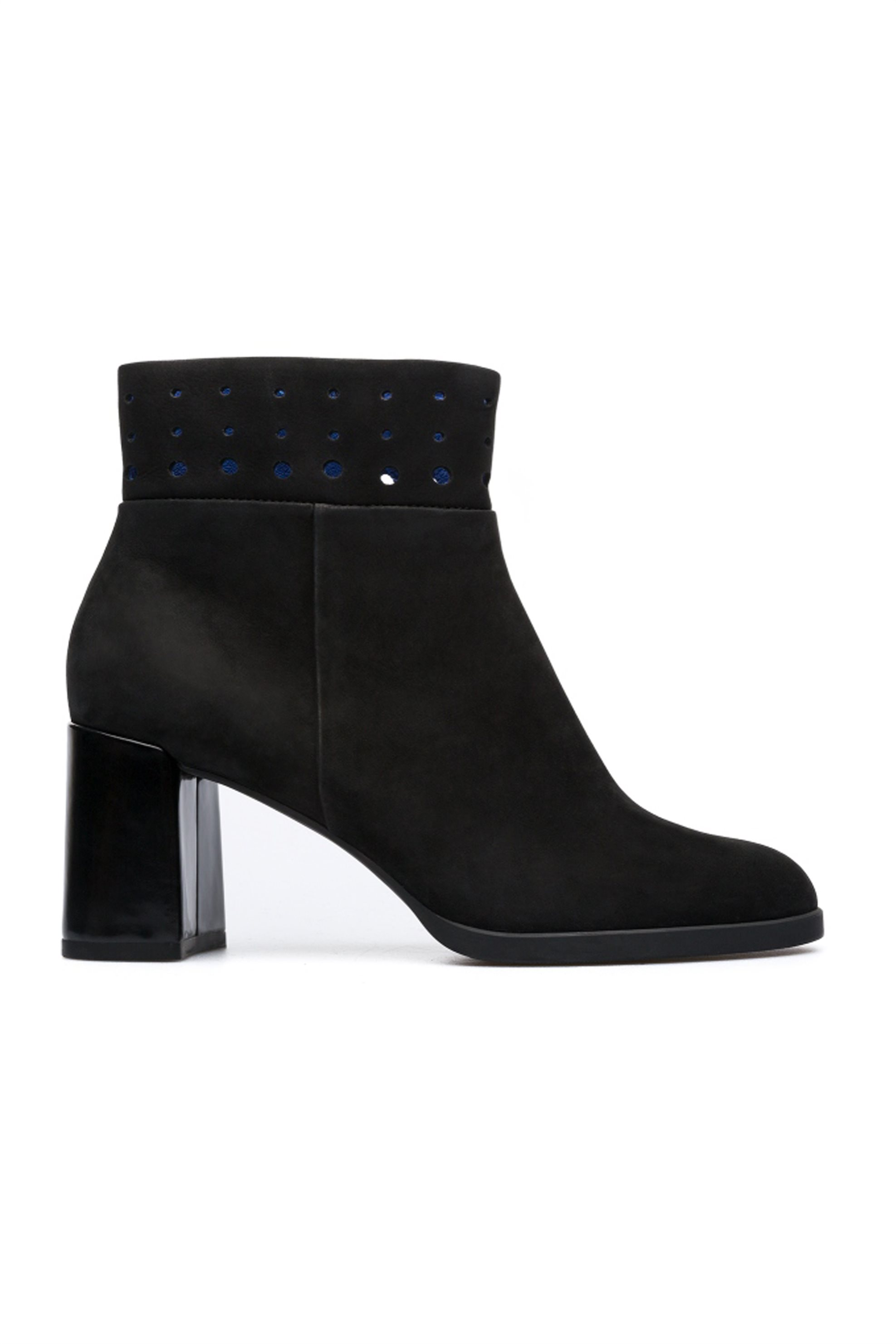 Camper γυναικεία μποτάκια σουέτ μαύρα με τακούνι Twins - K400346-001 - Μαύρο γυναικα   παπουτσια   μποτάκια