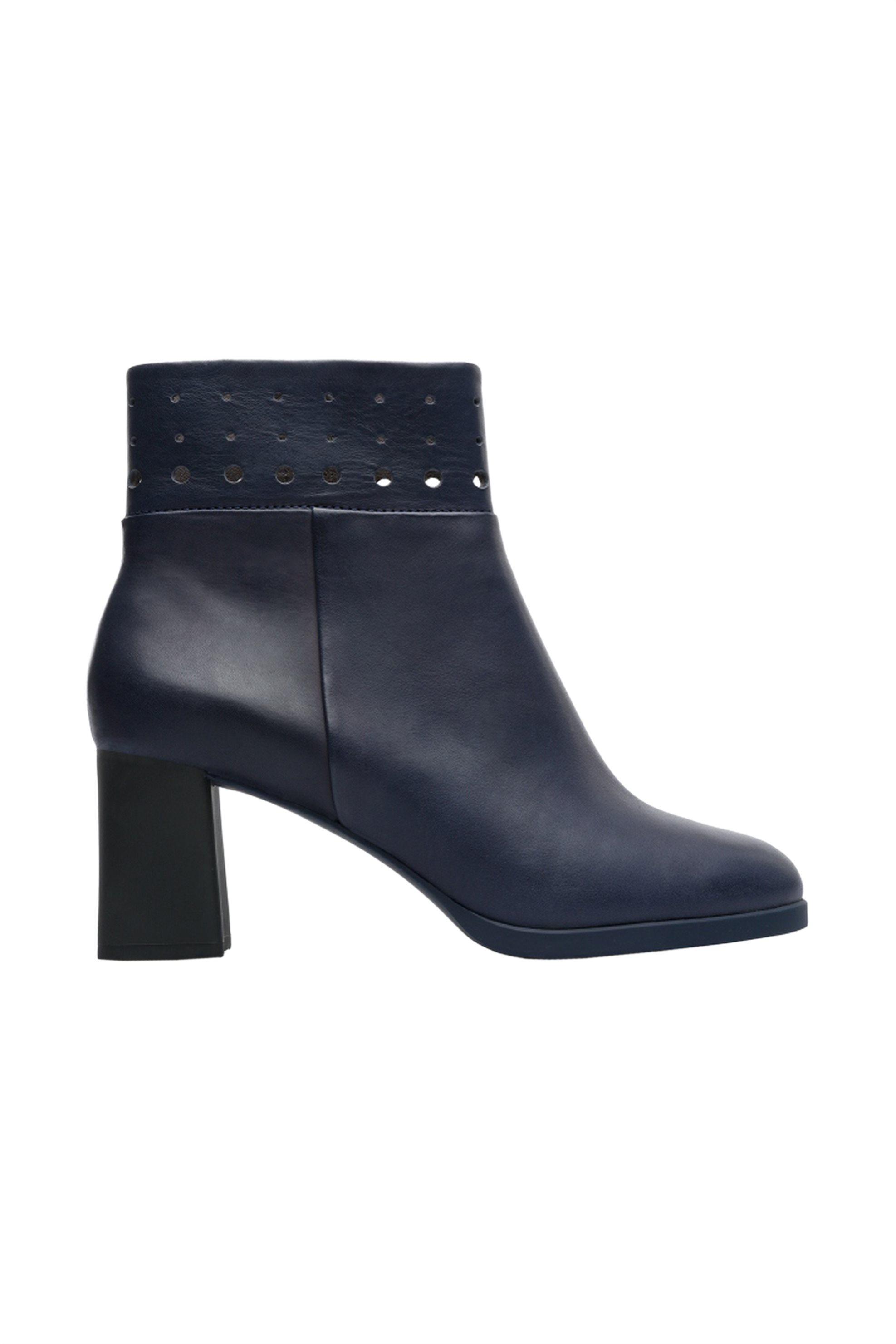 Camper γυναικεία μποτάκια με τακούνι Twins - K400346-002 - Μπλε Σκούρο γυναικα   παπουτσια   μποτάκια