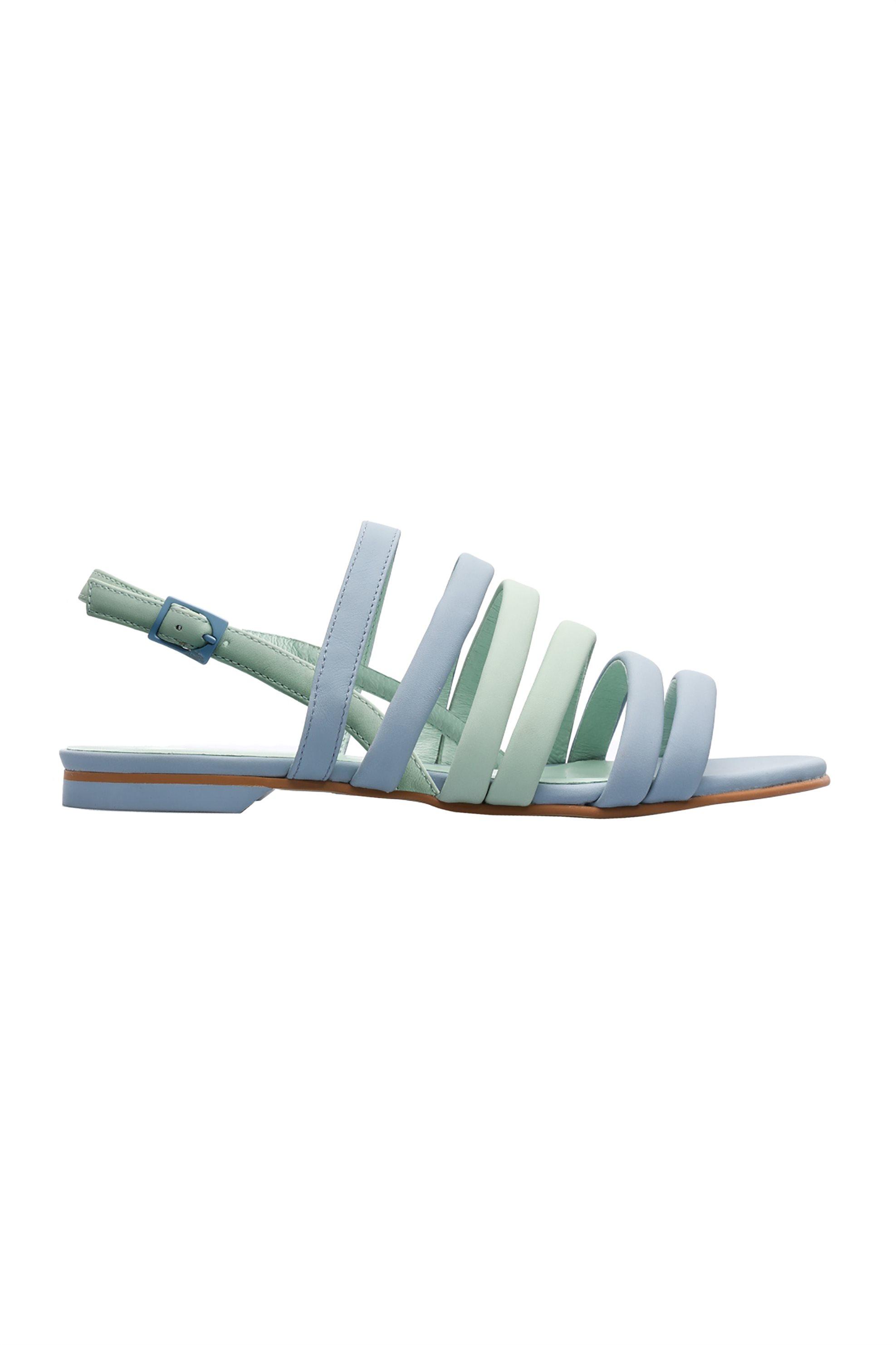 101066ef334 -15% Notos Camper γυναικεία φλατ σανδάλια με λουριά Twins – K200800-002 –  Γαλάζιο