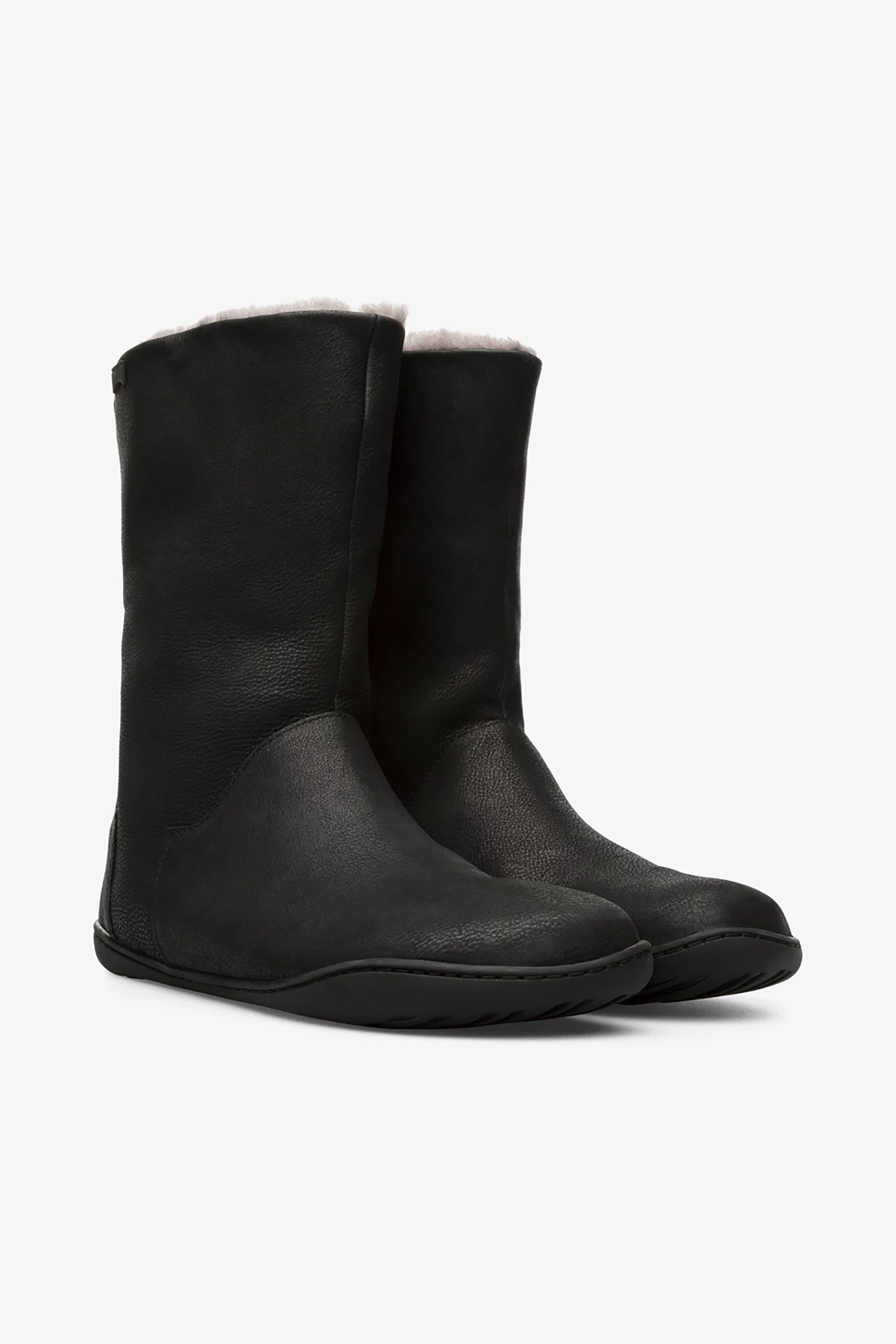 Camper γυναικείες μπότες με γούνινη επένδυση «Peu» – K400295-004 – Μαύρο