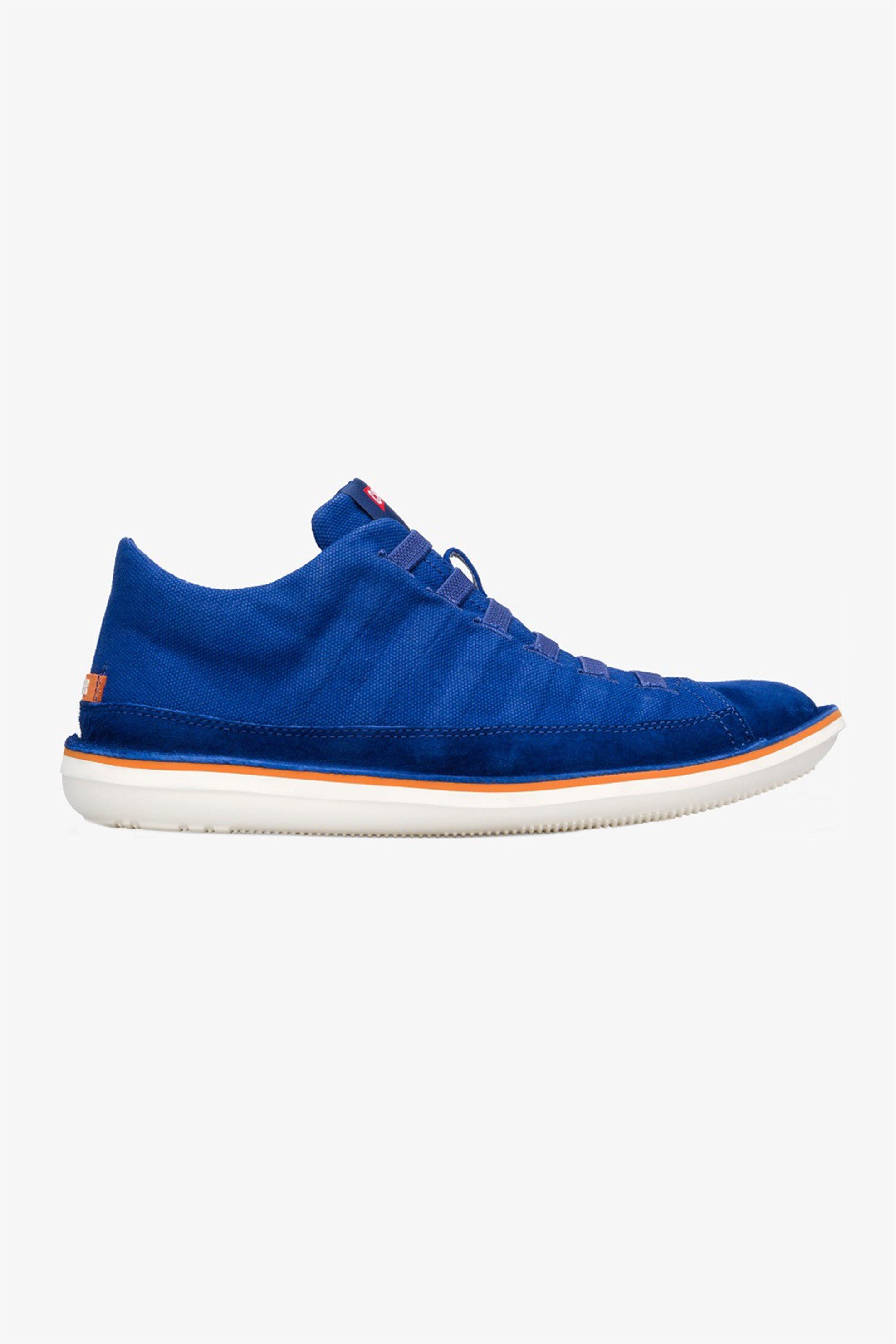 "Camper ανδρικά suede sneakers με ελαστικά κορδόνια και ανάγλυφο σχέδιο ""Beetle"" – 36791-055 – Μπλε Ηλεκτρίκ"