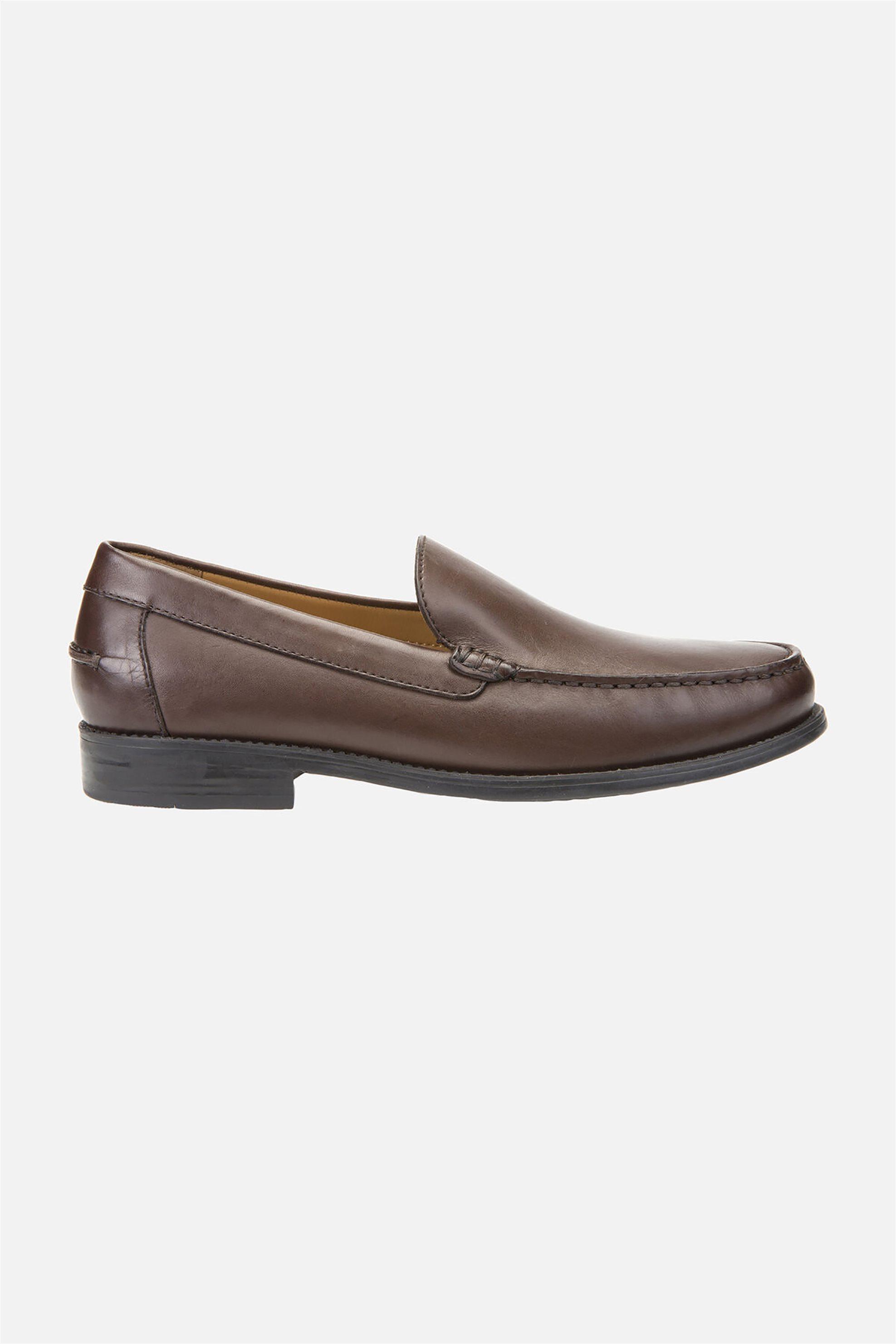 """Geox ανδρικά δερμάτινα loafers """"New Damon"""" – U641ZA00043C6006 – Καφέ"""