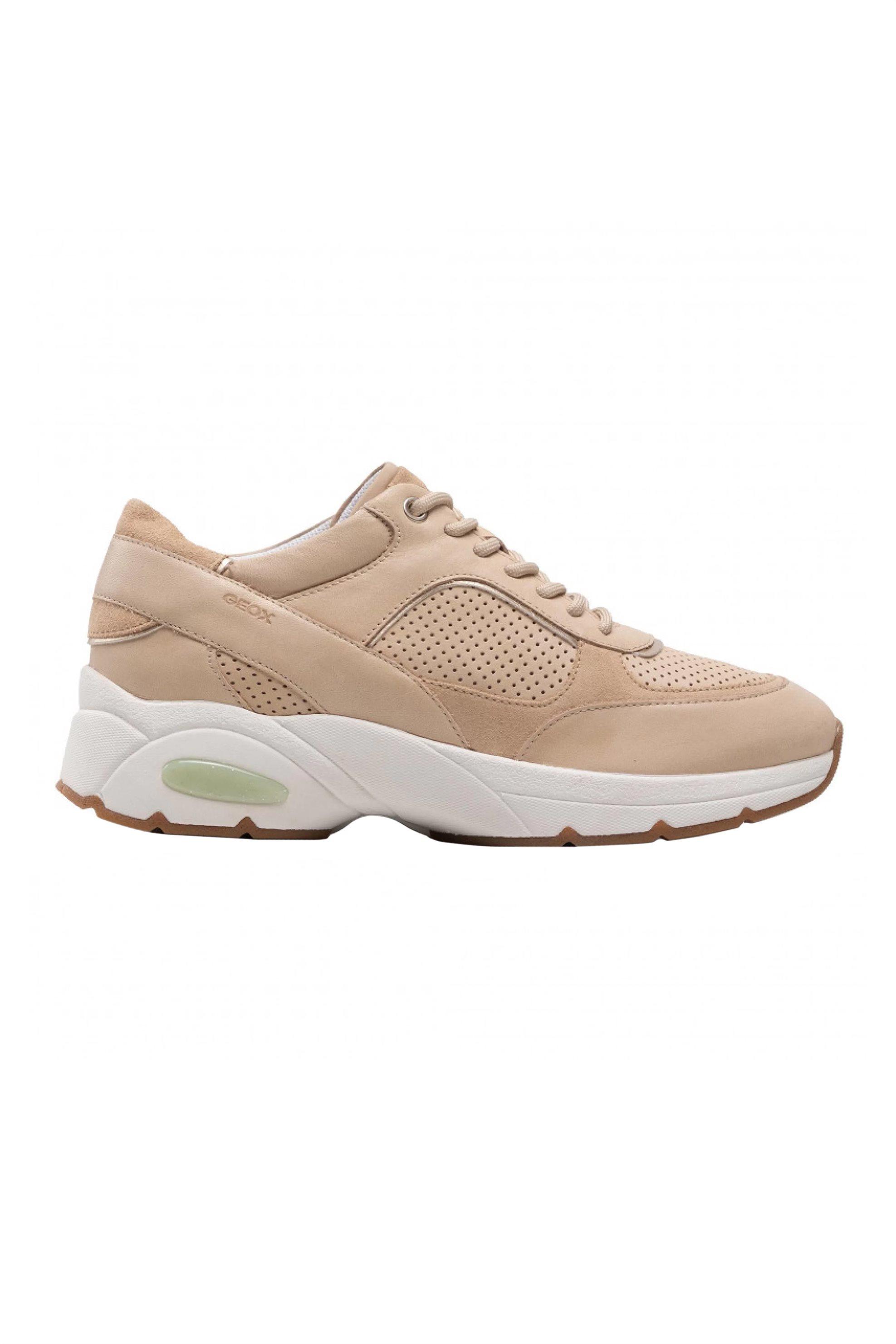 Geox γυναικεία sneakers με suede λεπτομέρειες ''Alhour'' - D15FGA0CL22C5004 - Μπεζ