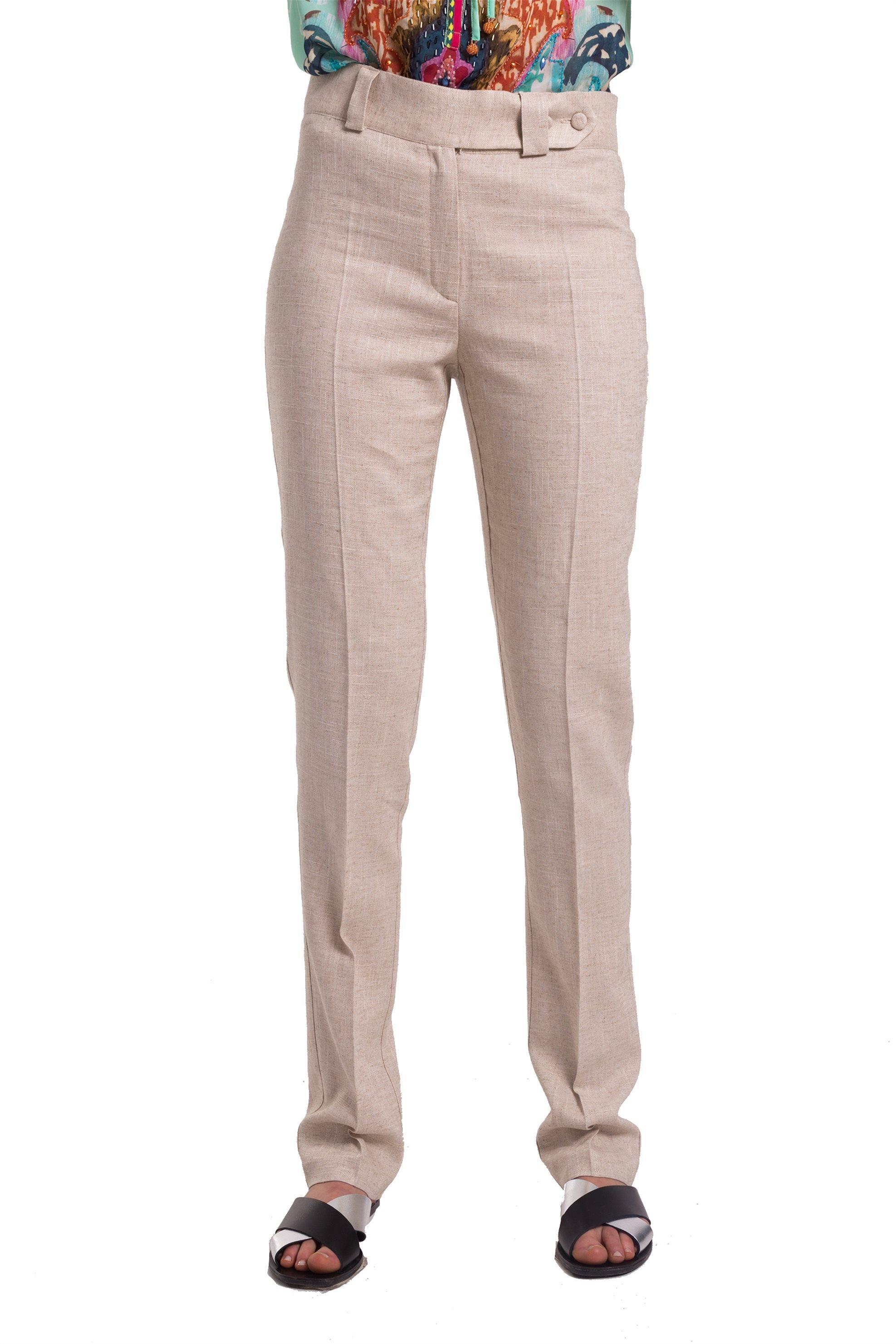 Γυναικείο μπεζ λινό παντελόνι Lucifair… 30bdcc9f42c
