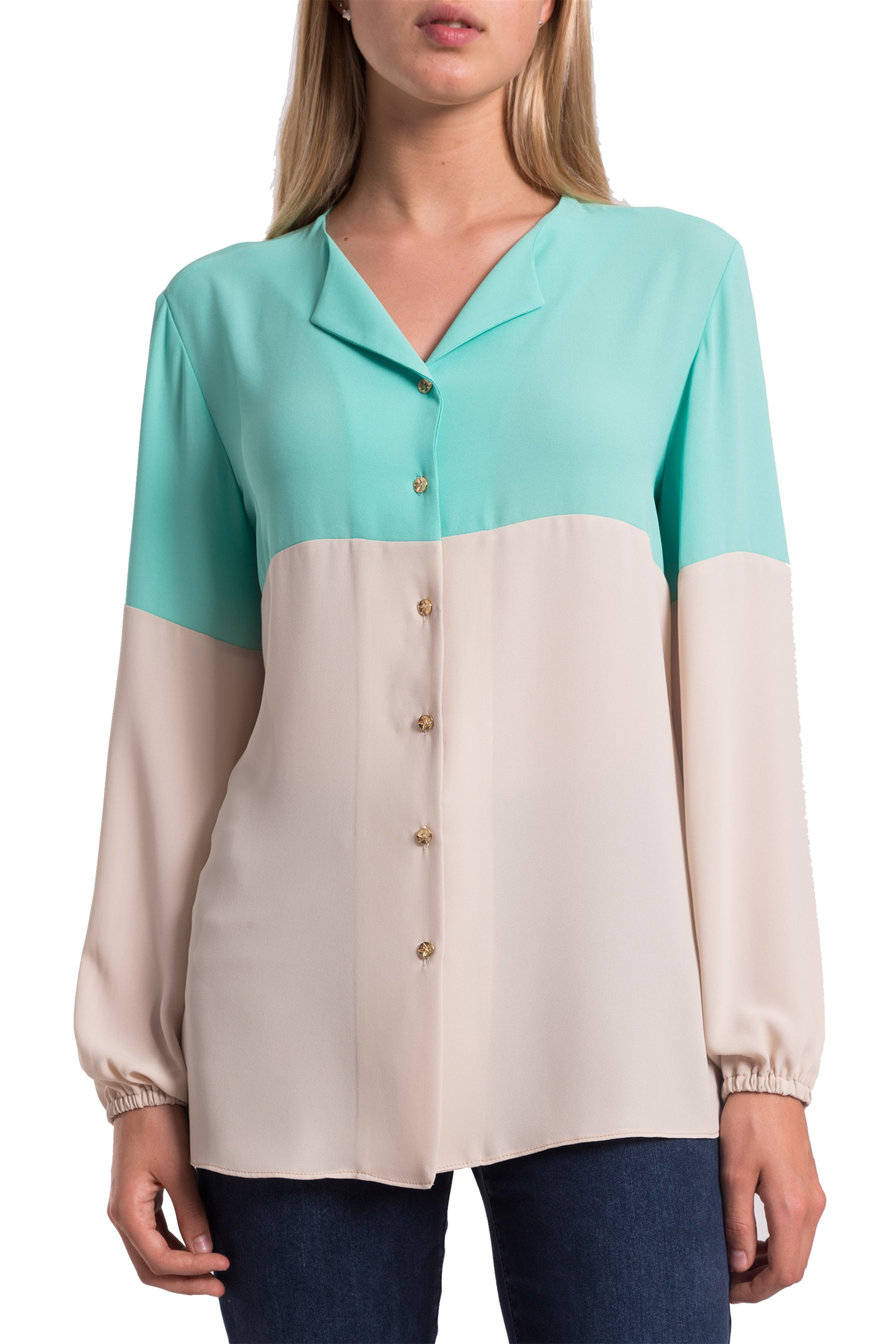 440bcba9978e Γυναικεία   Ρούχα   Πουκάμισα   Γυναικείο πουκάμισο ριγέ Gaudi ...