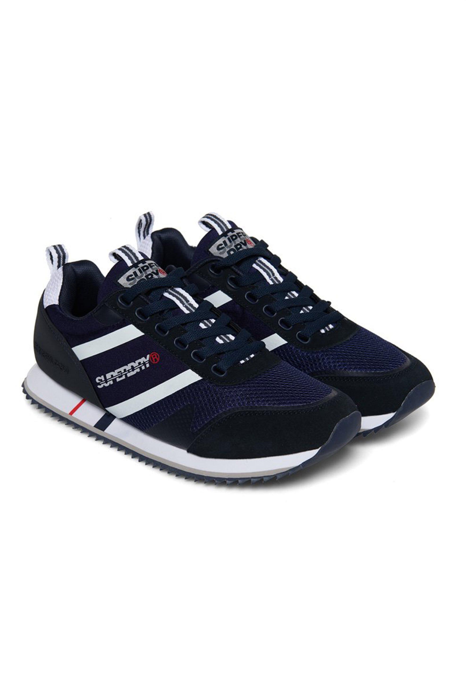"Superdry ανδρικά sneakers με κορδόνια "" Fero "" – MF100005A – Μπλε Σκούρο"