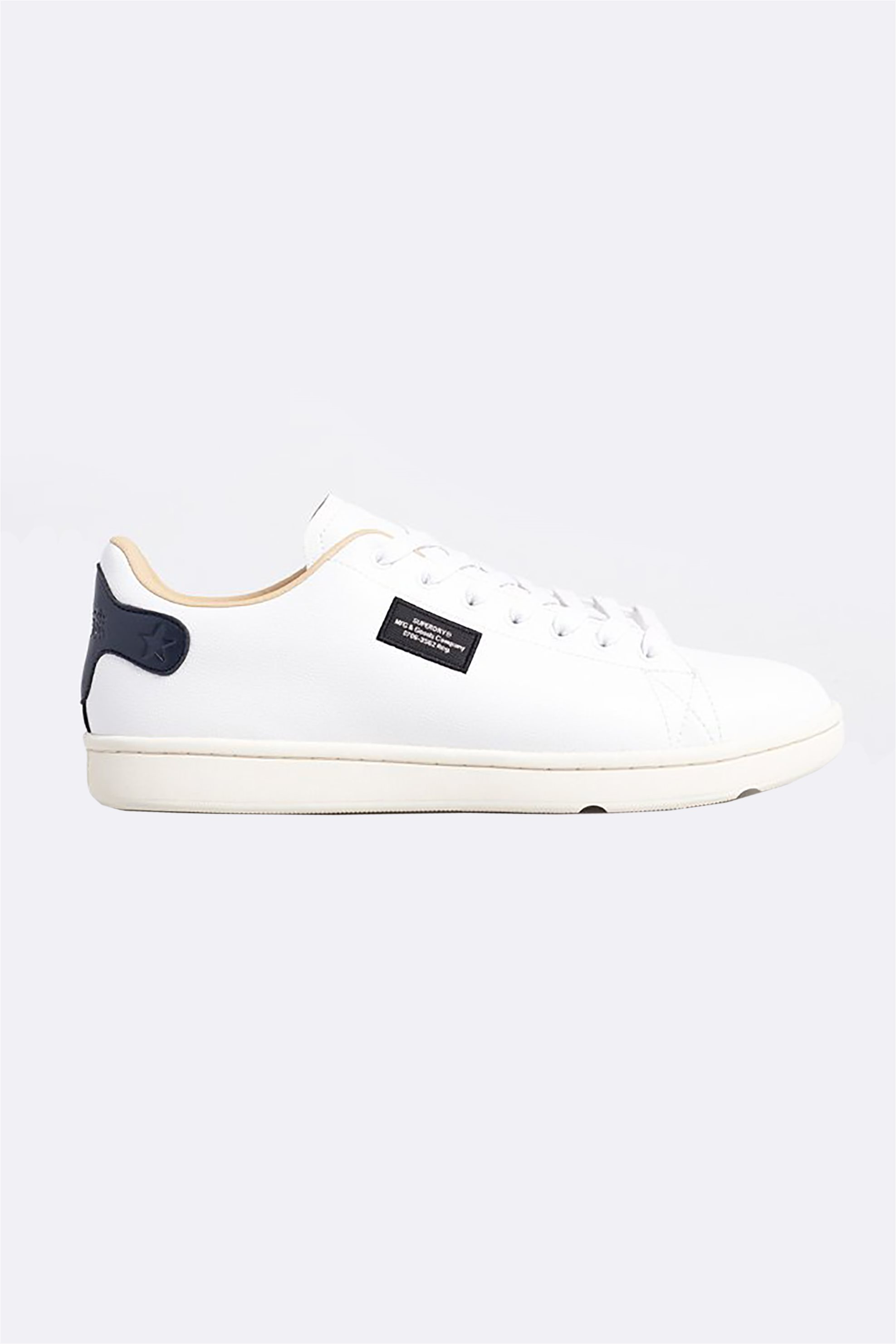 """Superdry ανδρικά sneakers """"Vintage Tennis Trainers"""" – MF110047A – Άσπρο"""