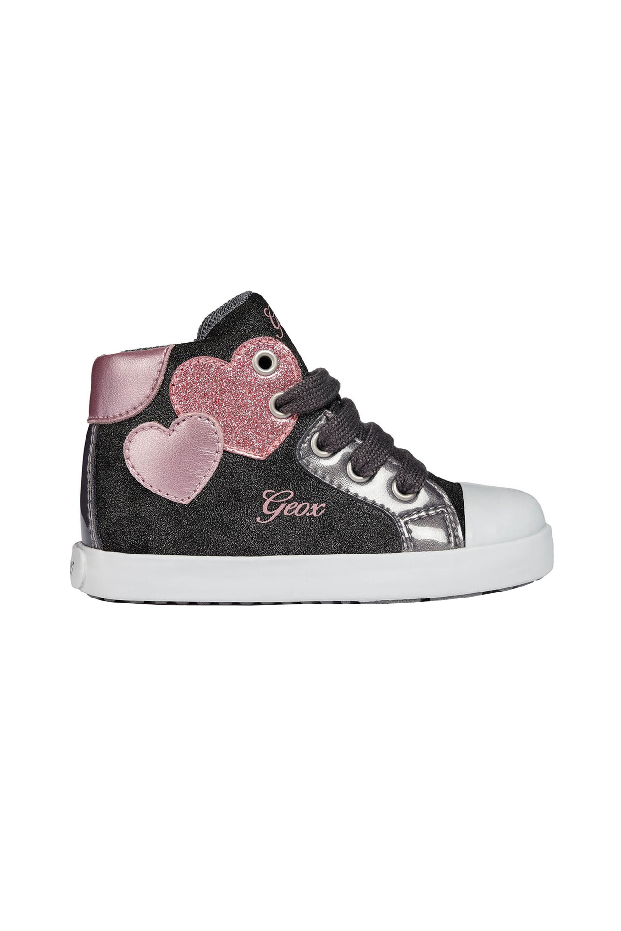 75383c1e0a0 Notos Geox παιδικά sneakers μποτάκια Baby Kilwi Girl - B84D5C - Μαύρο