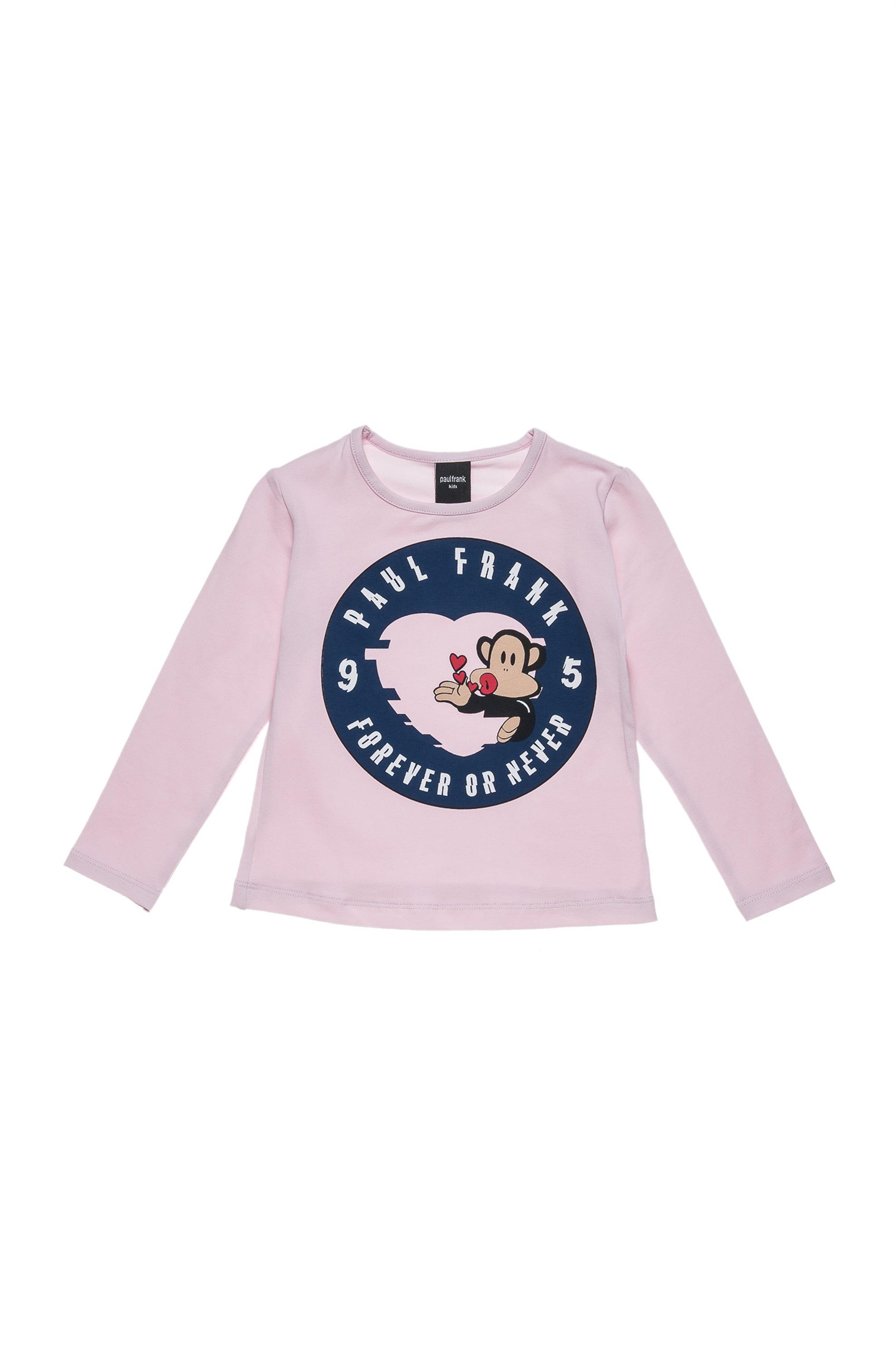 Βρεφική μπλούζα forever or never (18 μηνών-5 ετών) Paul Frank Collection - 00320 παιδι   βρεφικα κοριτσι   0 3 ετων   κοριτσι   4 14 ετων   ρούχα   tops   παντελ