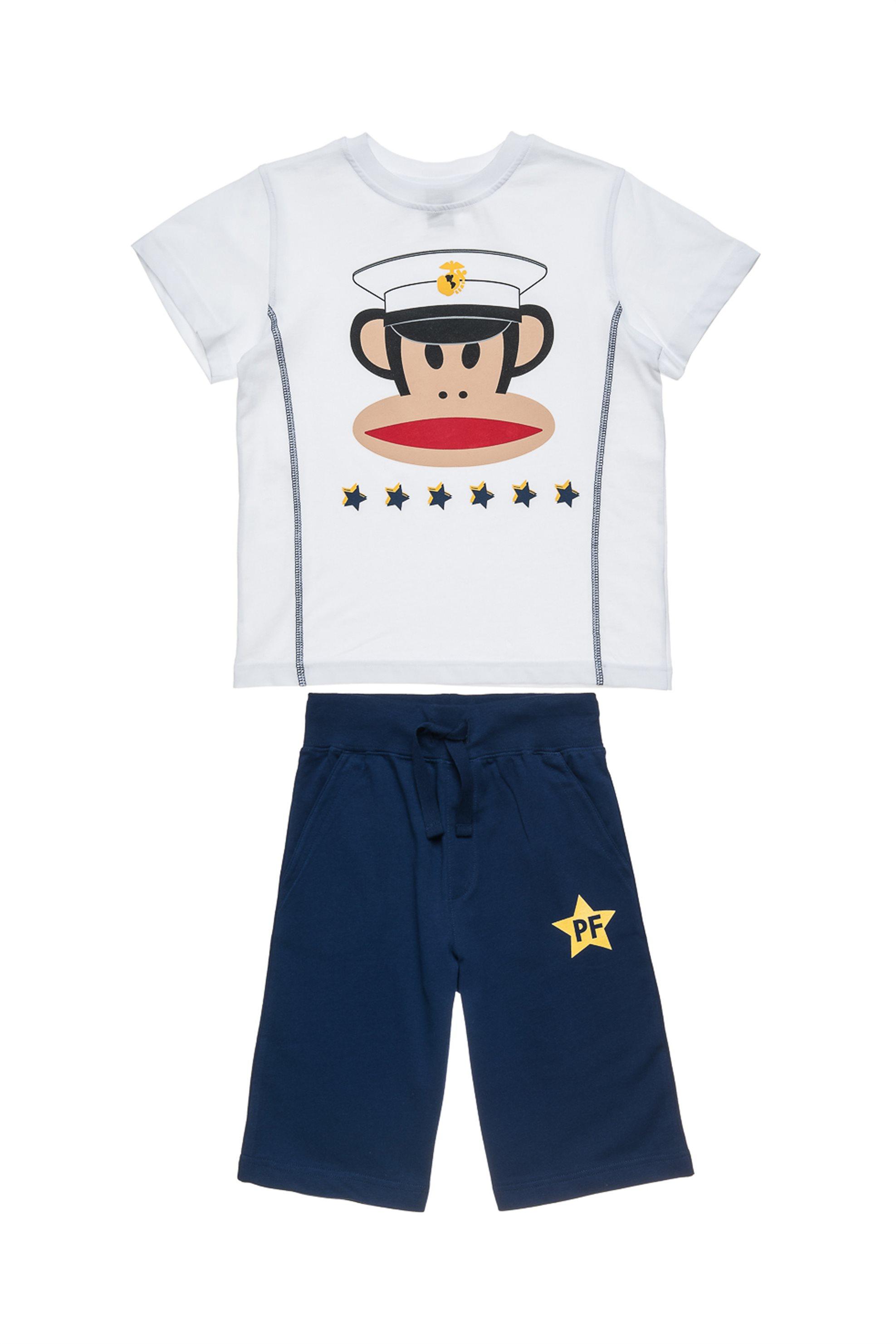 Παιδικό σετ T-shirt και βερμούδα (Αγόρι 6-16 ετών) Paul Frank Collection - 00170 παιδι   αγορι   4 14 ετων   σετ ρούχων   μπλουζάκια   παντελόνια