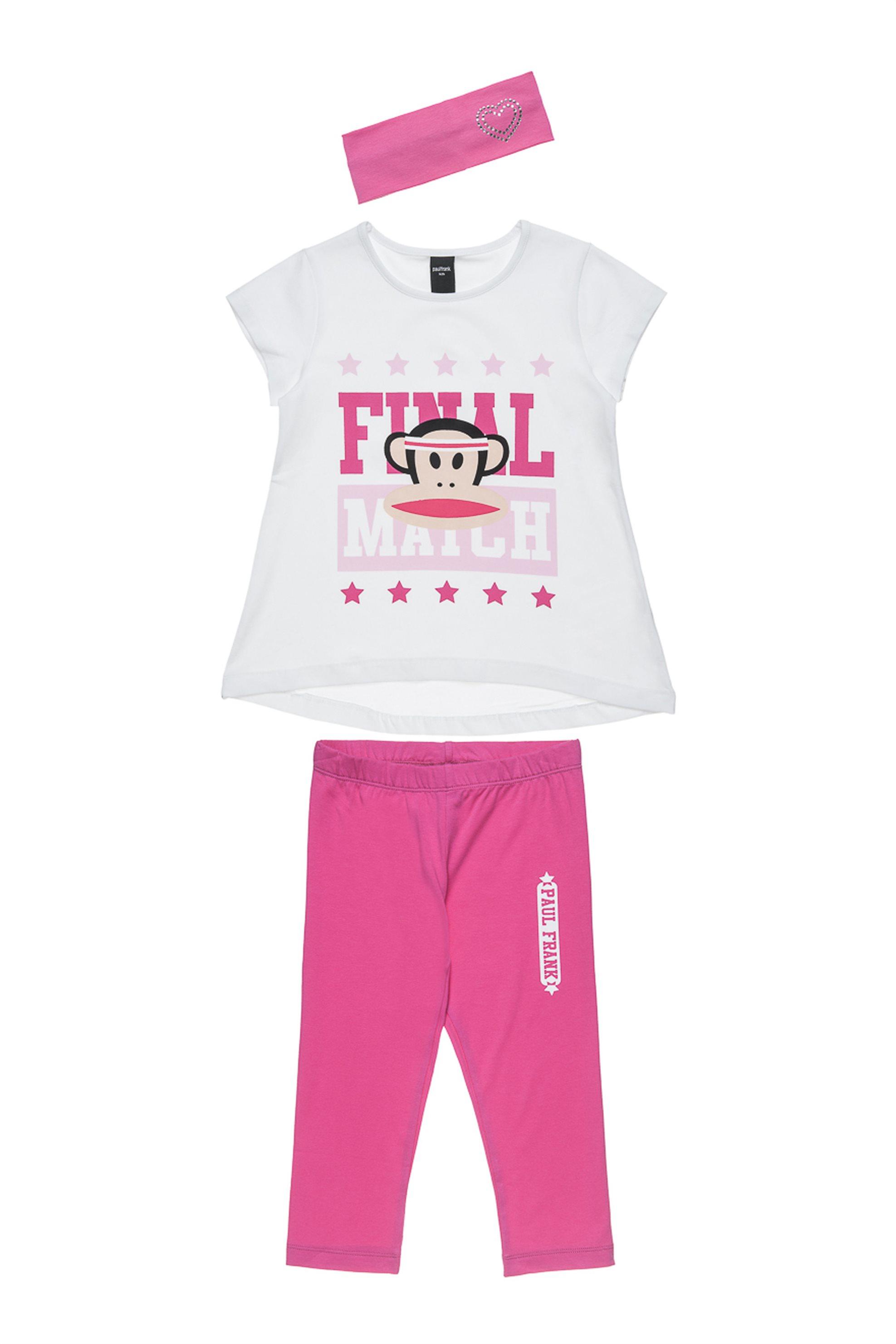 Παιδικό σετ (6-16 ετών) Paul Frank Collection - 00170339 - Λευκό παιδι   κοριτσι   4 14 ετων   σετ ρούχων