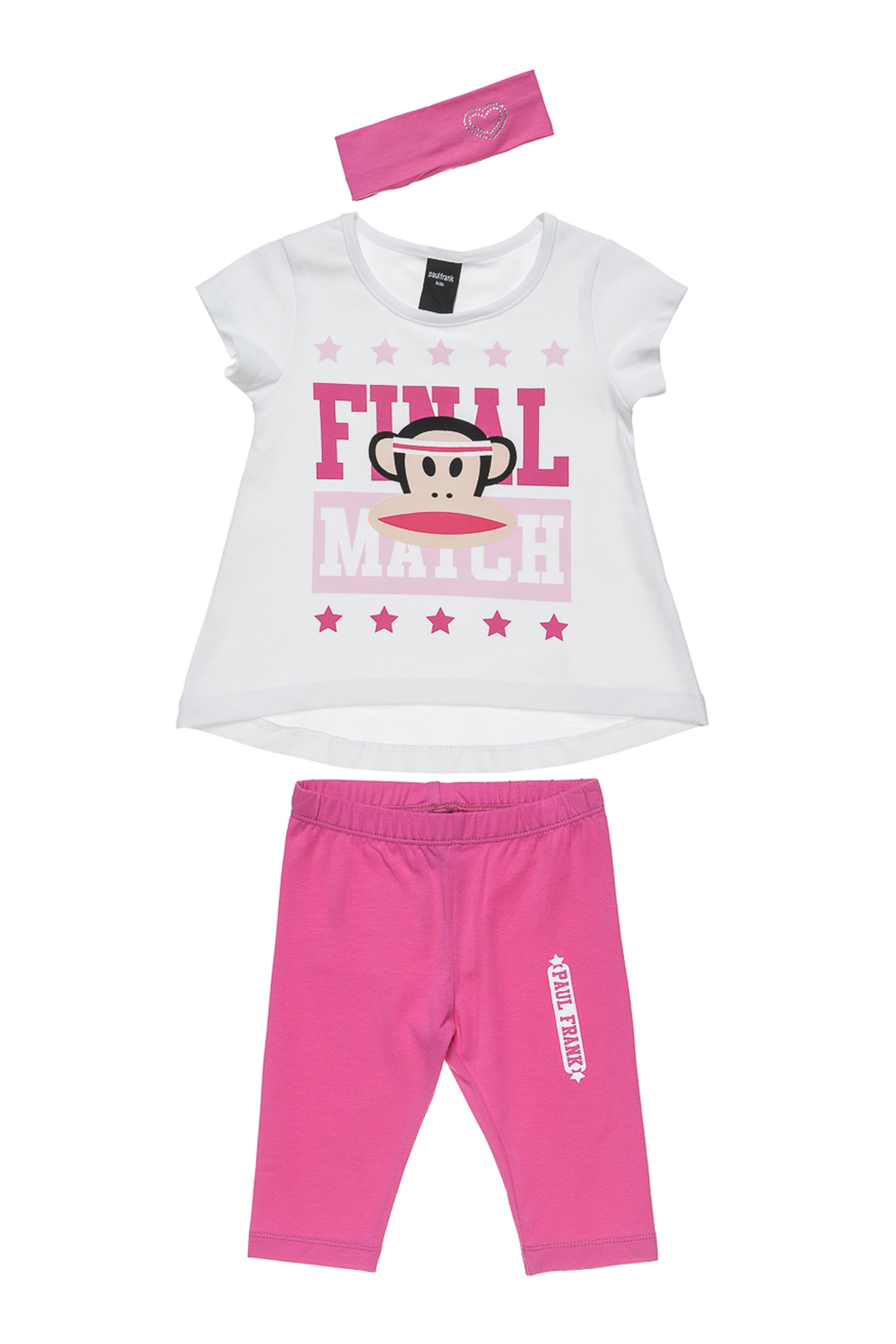 Παιδικό σετ (12 μηνών-5 ετών) Paul Frank Collection - 00370487 - Λευκό παιδι   βρεφικα κοριτσι   0 3 ετων   κοριτσι   4 14 ετων   σετ ρούχων   ρούχα