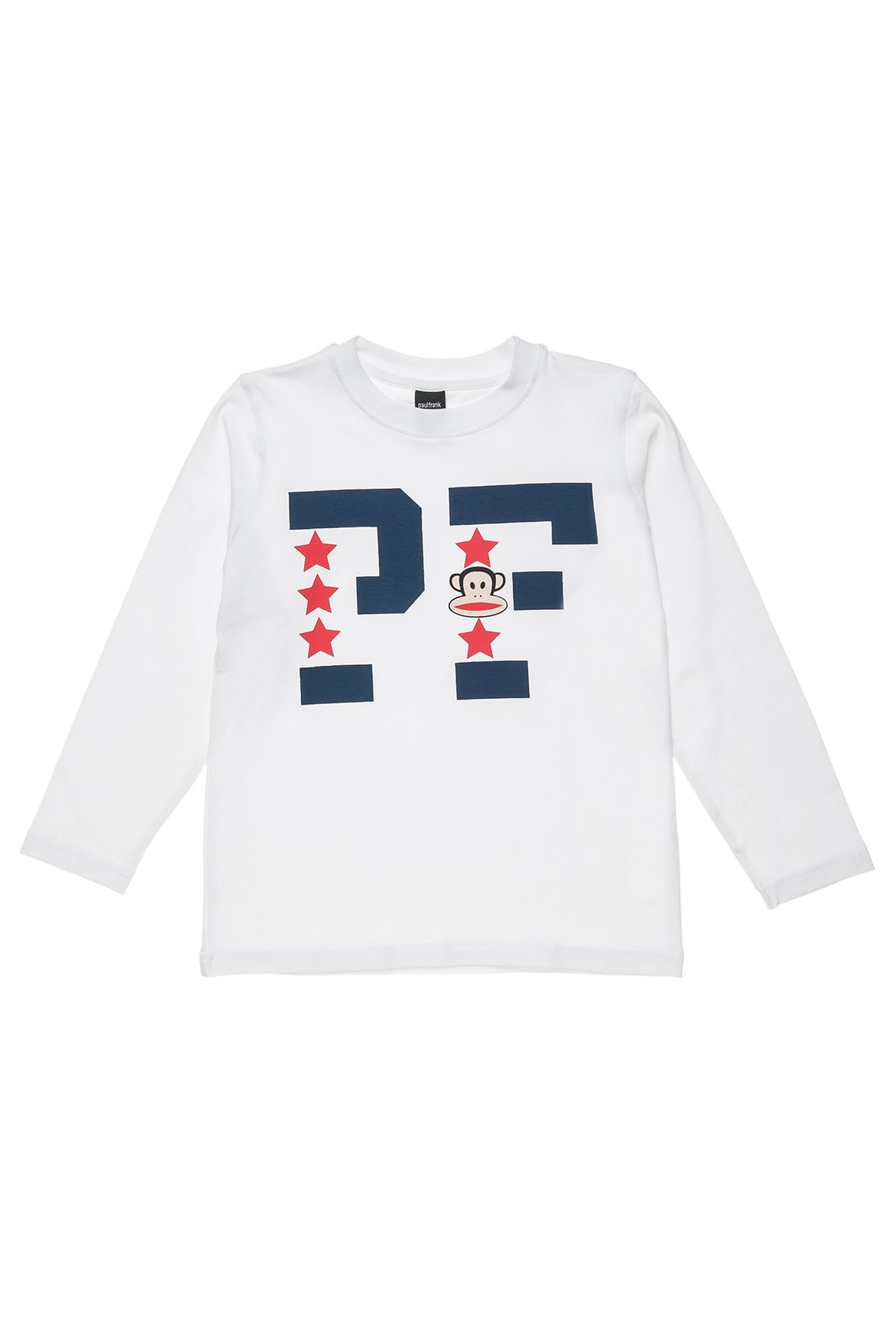 Παιδική μπλούζα με print Paul Frank Collection - 00121285 - Λευκό παιδι   αγορι   4 14 ετων   μπλουζάκια   παντελόνια   μπλουζάκια   πόλο   μπλούζ
