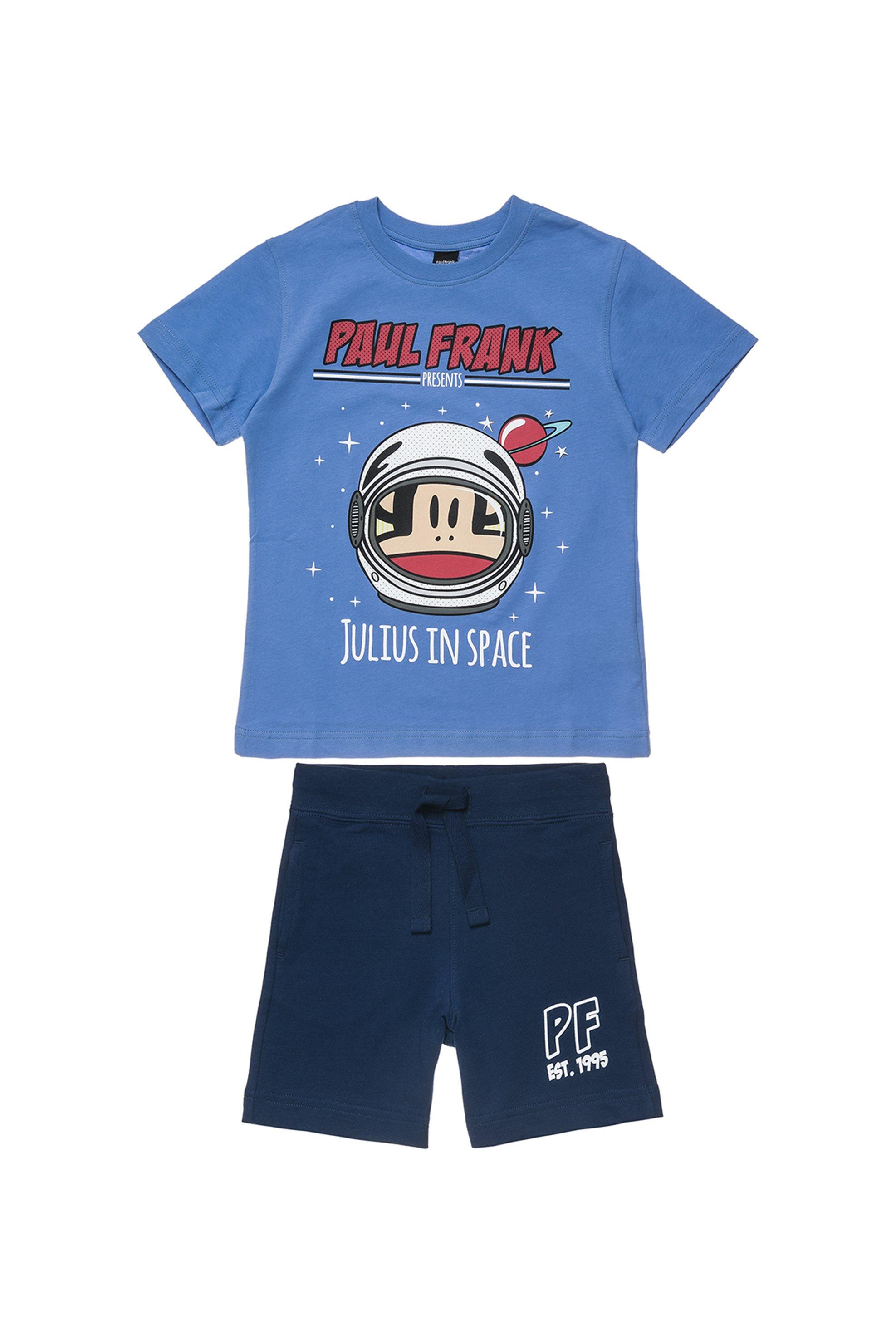 Παιδικό σετ T-shirt print και βερμούδα Paul Frank Collection - 00370478 - Μπλε παιδι   βρεφικα αγορι   0 3 ετων   αγορι   4 14 ετων   ρούχα   σετ ρούχων   σετ