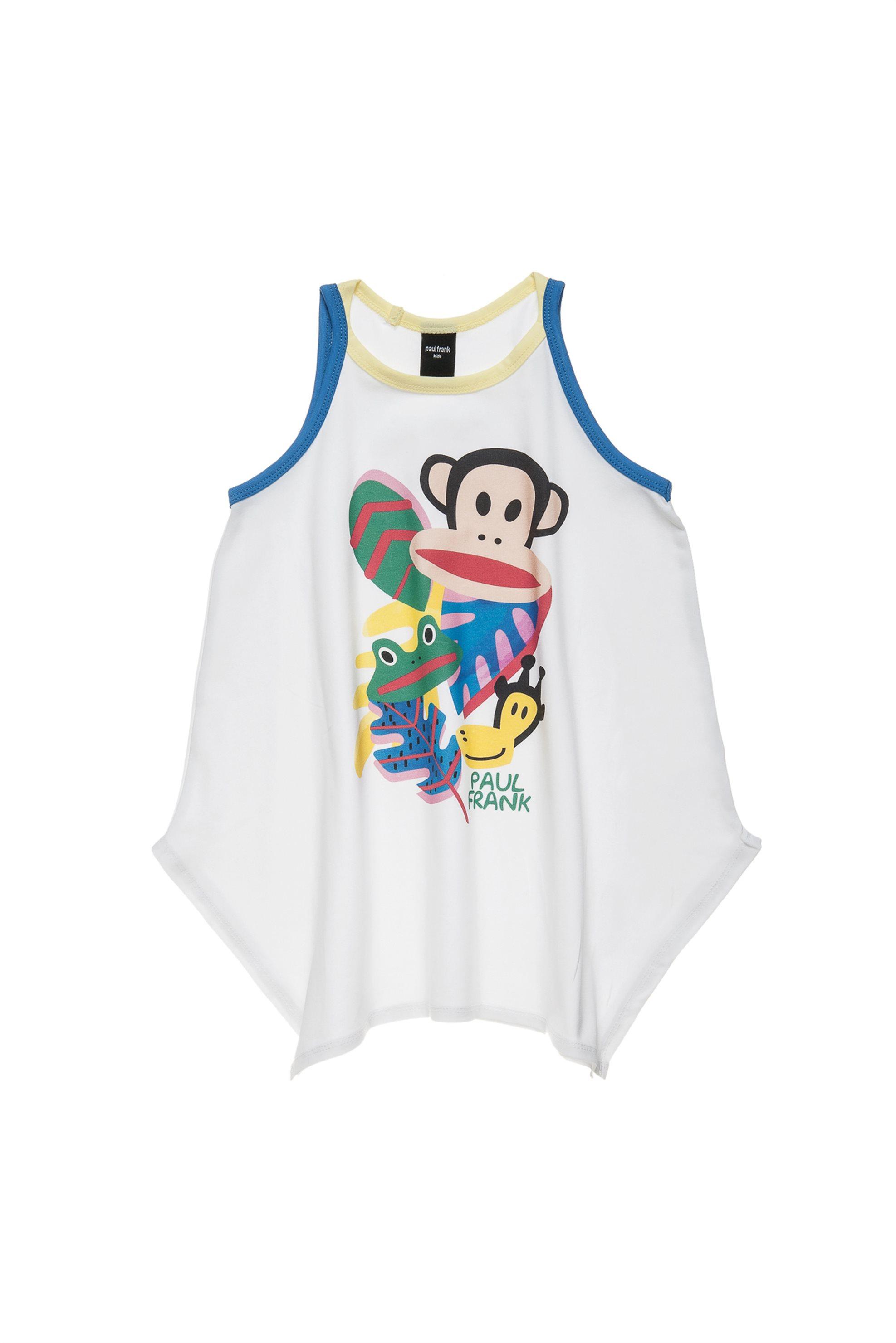 Παιδική αμάνικη μπλούζα (6-16 ετών) Paul Frank Collection - 00151561 - Λευκό παιδι   κοριτσι   4 14 ετων   tops   παντελόνια   μπλούζες   πουκάμισα   μπλούζε