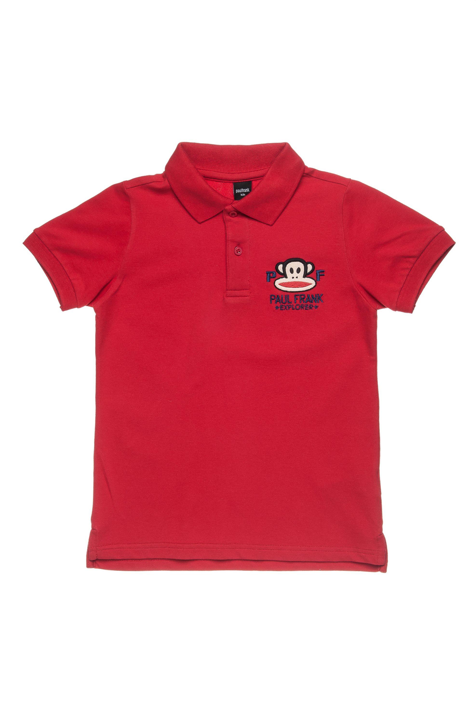 Παιδική μπλούζα polo (6-14 ετών) Paul Frank Collection - 00151647 - Κόκκινο παιδι   αγορι   4 14 ετων   μπλουζάκια   παντελόνια   μπλουζάκια   πόλο   μπλούζ