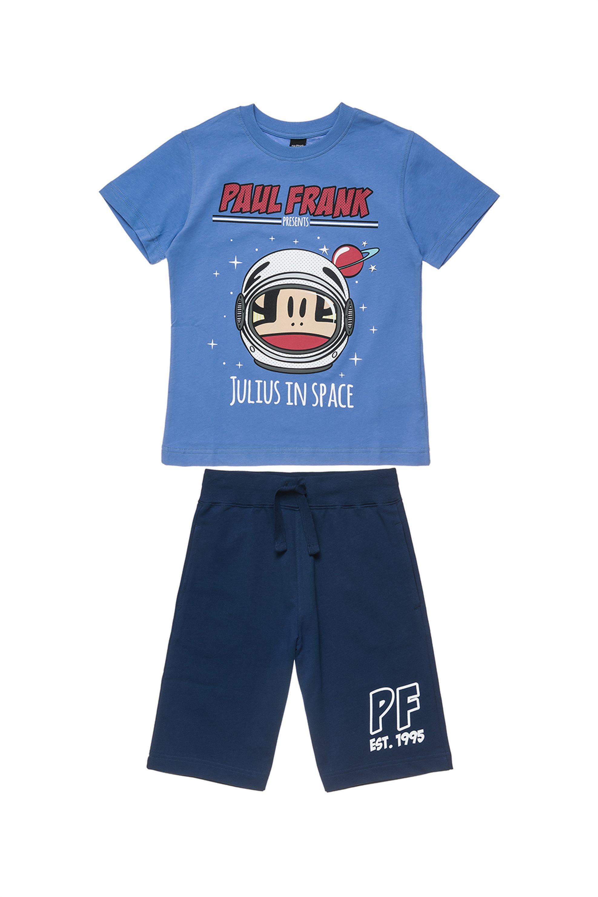Παιδικό σετ T-shirt με print και βερμούδα (6 - 14 ετών) Paul Frank - 00170338 -  παιδι   αγορι   4 14 ετων   σετ ρούχων