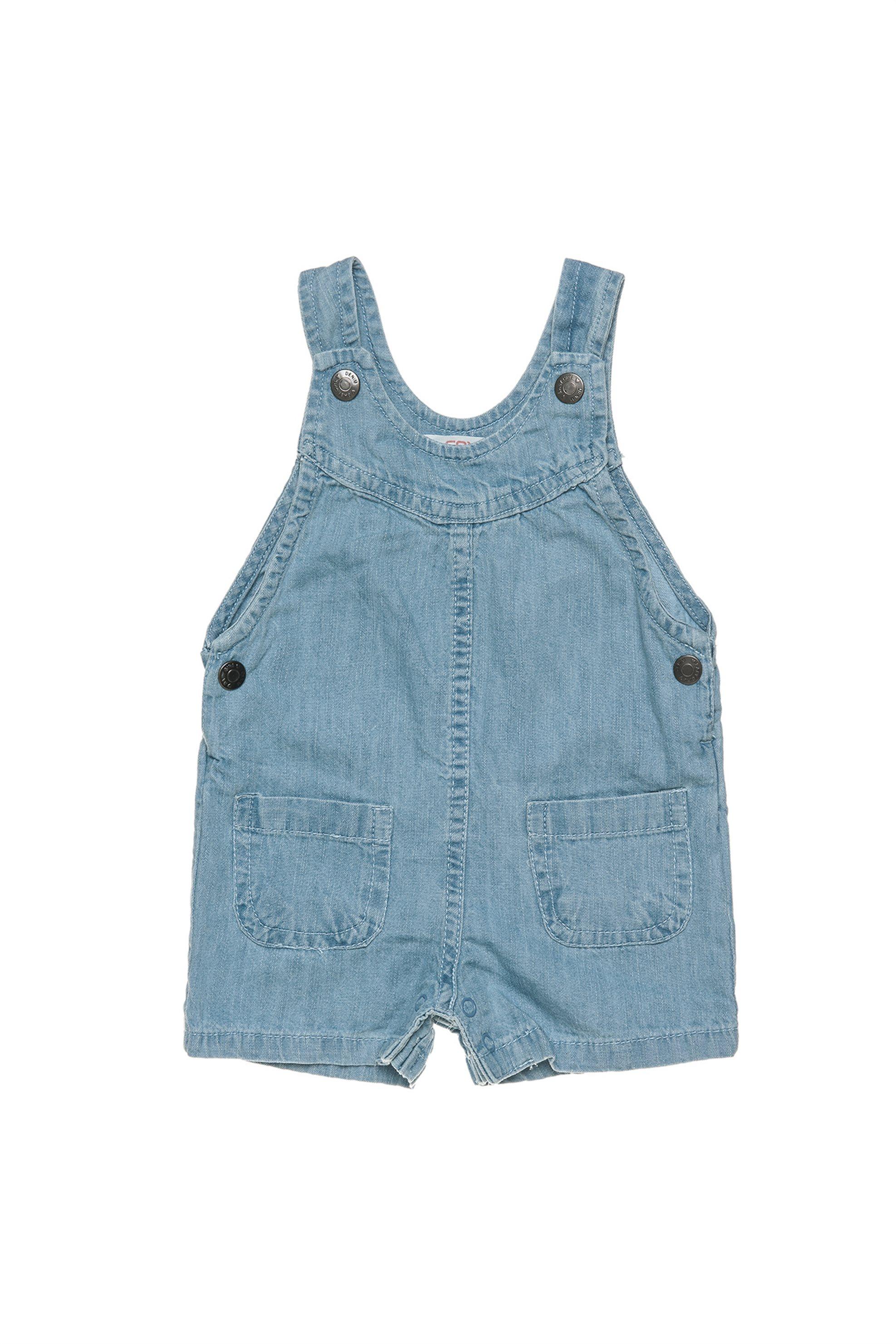 Βρεφική σαλοπέτα τζην (9 μηνών - 3 ετών) Alouette - 00211831 - Μπλε παιδι   βρεφικα κοριτσι   0 3 ετων   ρούχα   σαλοπέτες