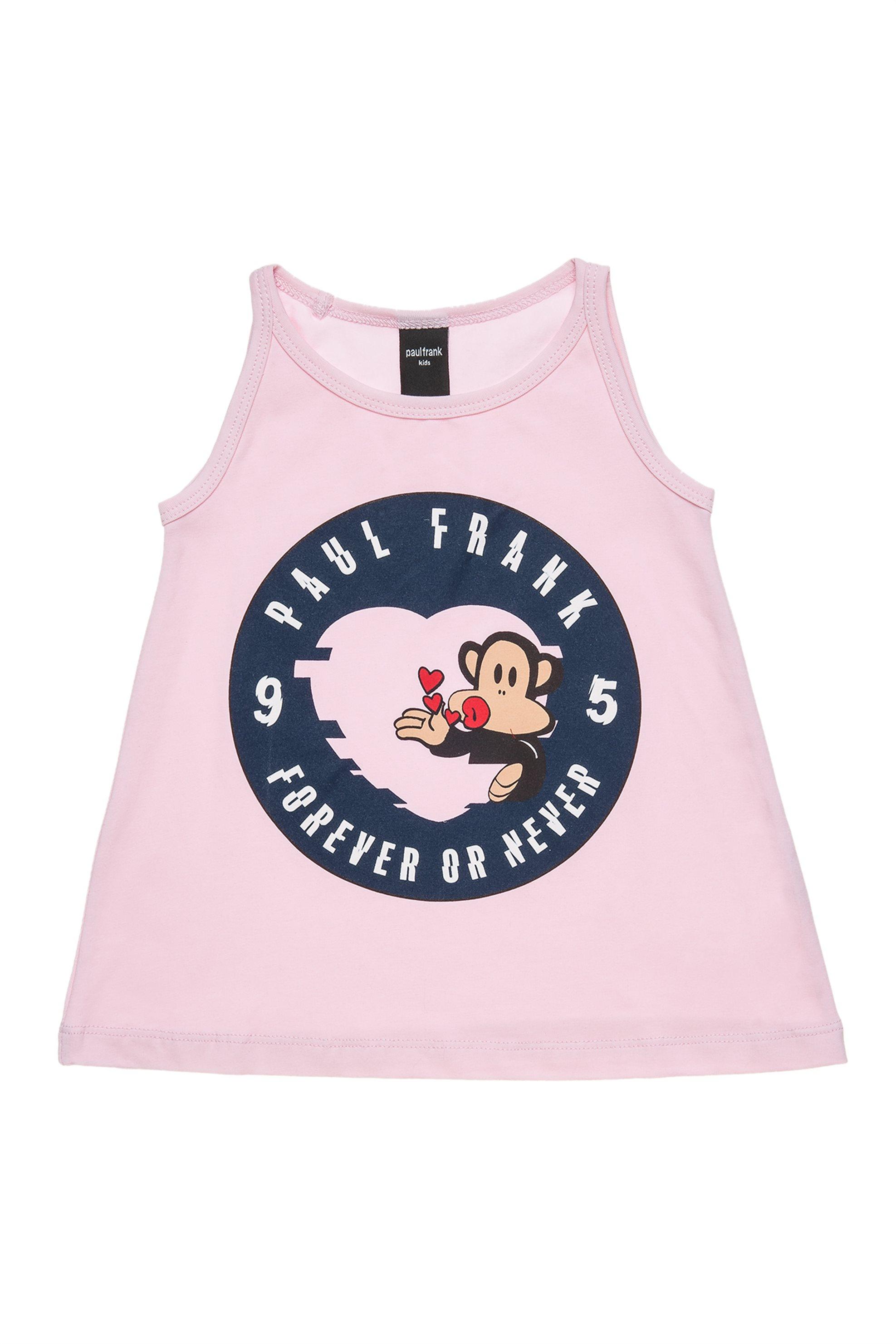 Παιδική μπλούζα αμάνικη με print (6 - 14 ετών) Paul Frank Collection - 00151563  παιδι   κοριτσι   4 14 ετων   tops   παντελόνια   μπλούζες   πουκάμισα   μπλούζε