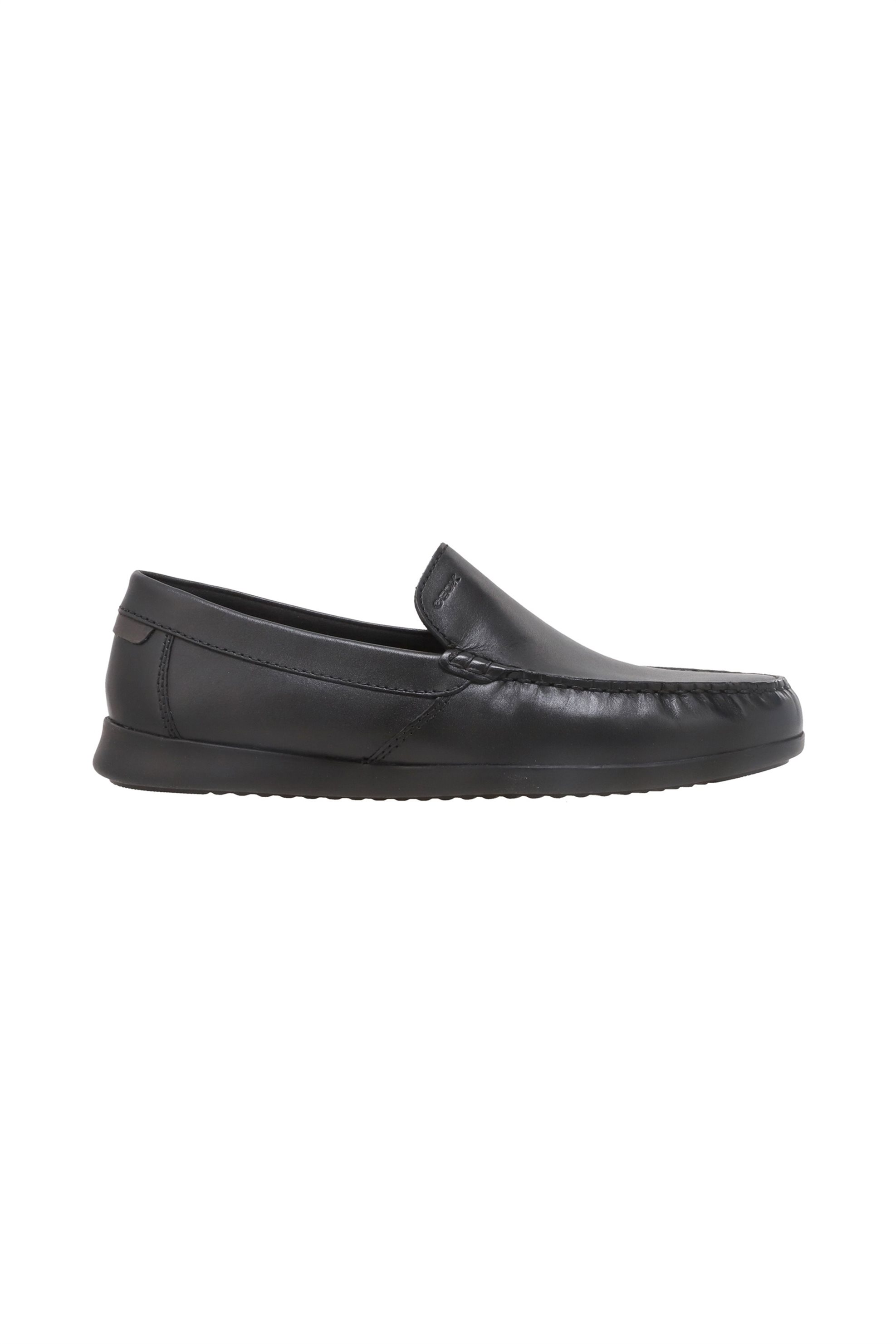 "Geox ανδρικά δερμάτινα loafers ""Sile"" – U028UA – Μαύρο"