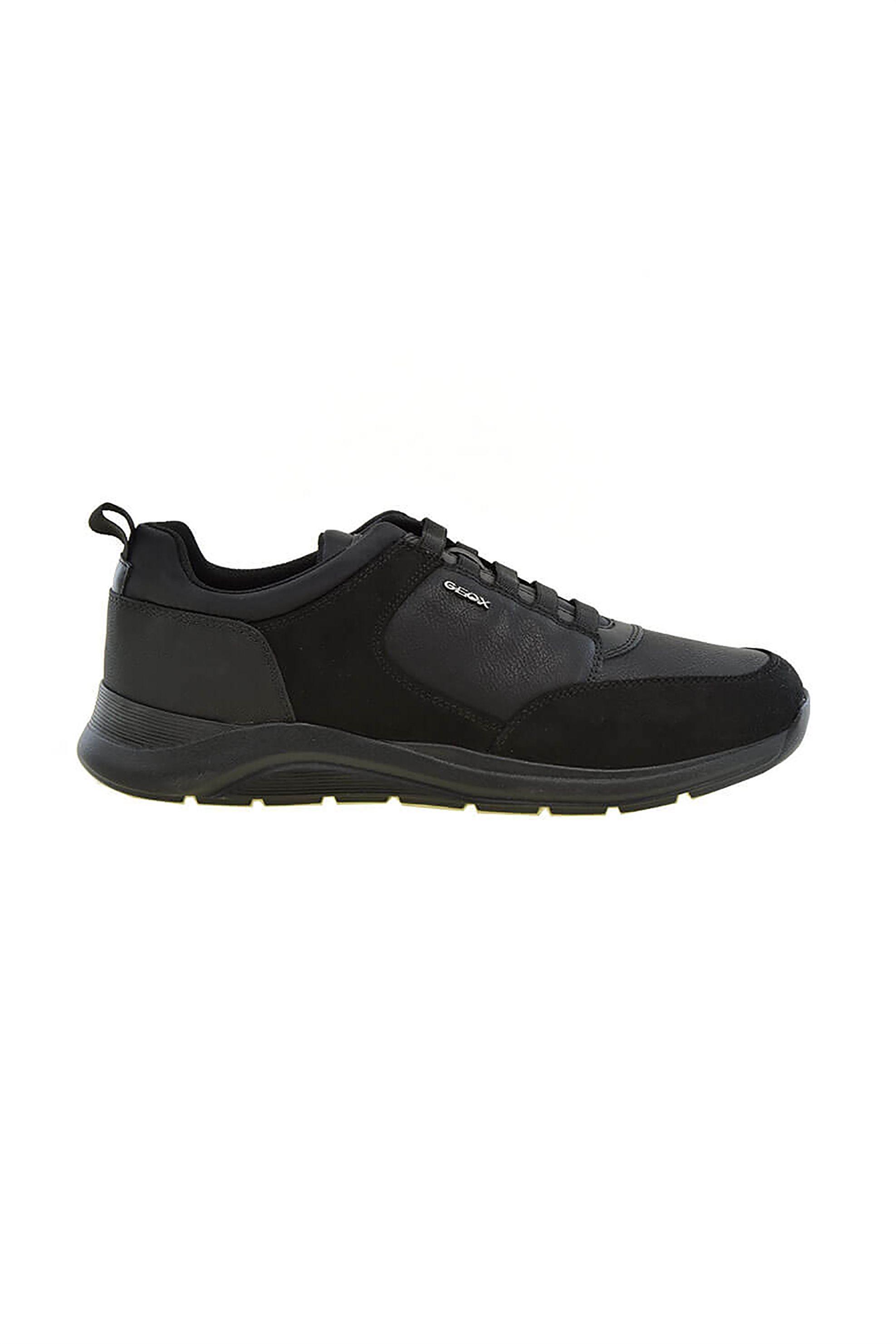 "Geox ανδρικά sneakers με suede λετομέρειες ""Damiano"" – U04AND – Μαύρο"