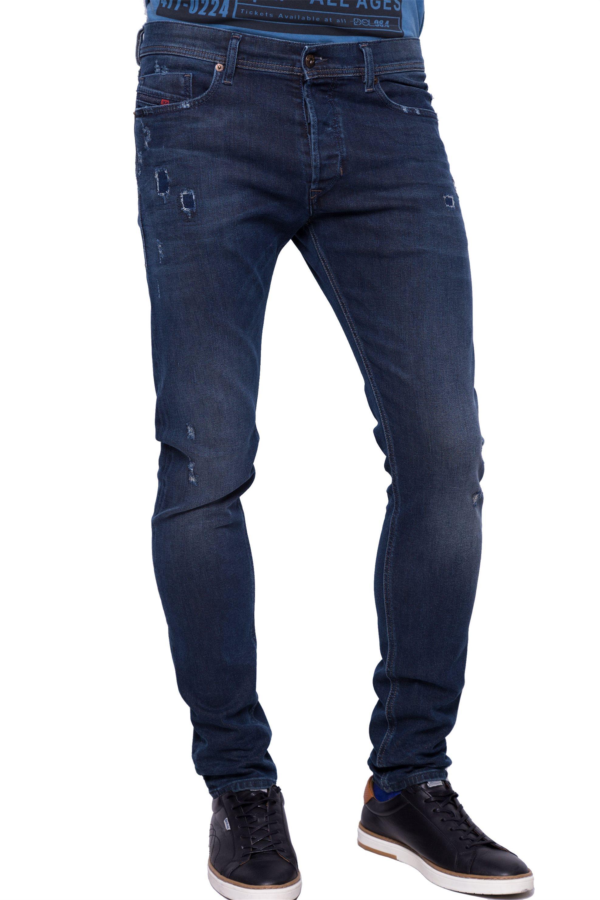 Ανδρικό παντελόνι Diesel - 00CKRI 084LD - Μπλε Σκούρο ανδρασ   ρουχα   jeans   tapered