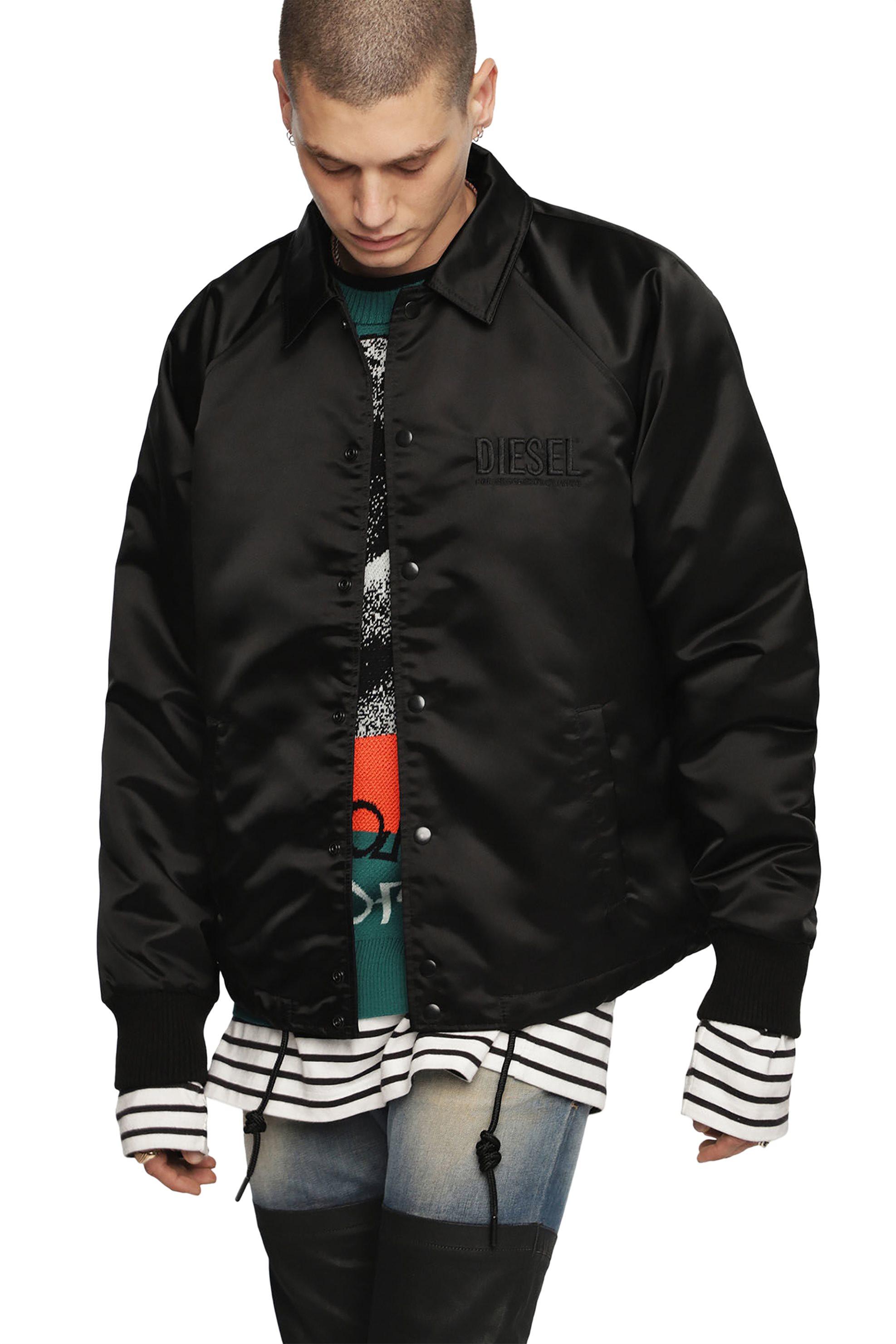 86ad215152f1 Notos Diesel ανδρικό jacket με γυαλιστερό ύφασμα J-Akio - 00SMEM 0KASO -  Μαύρο