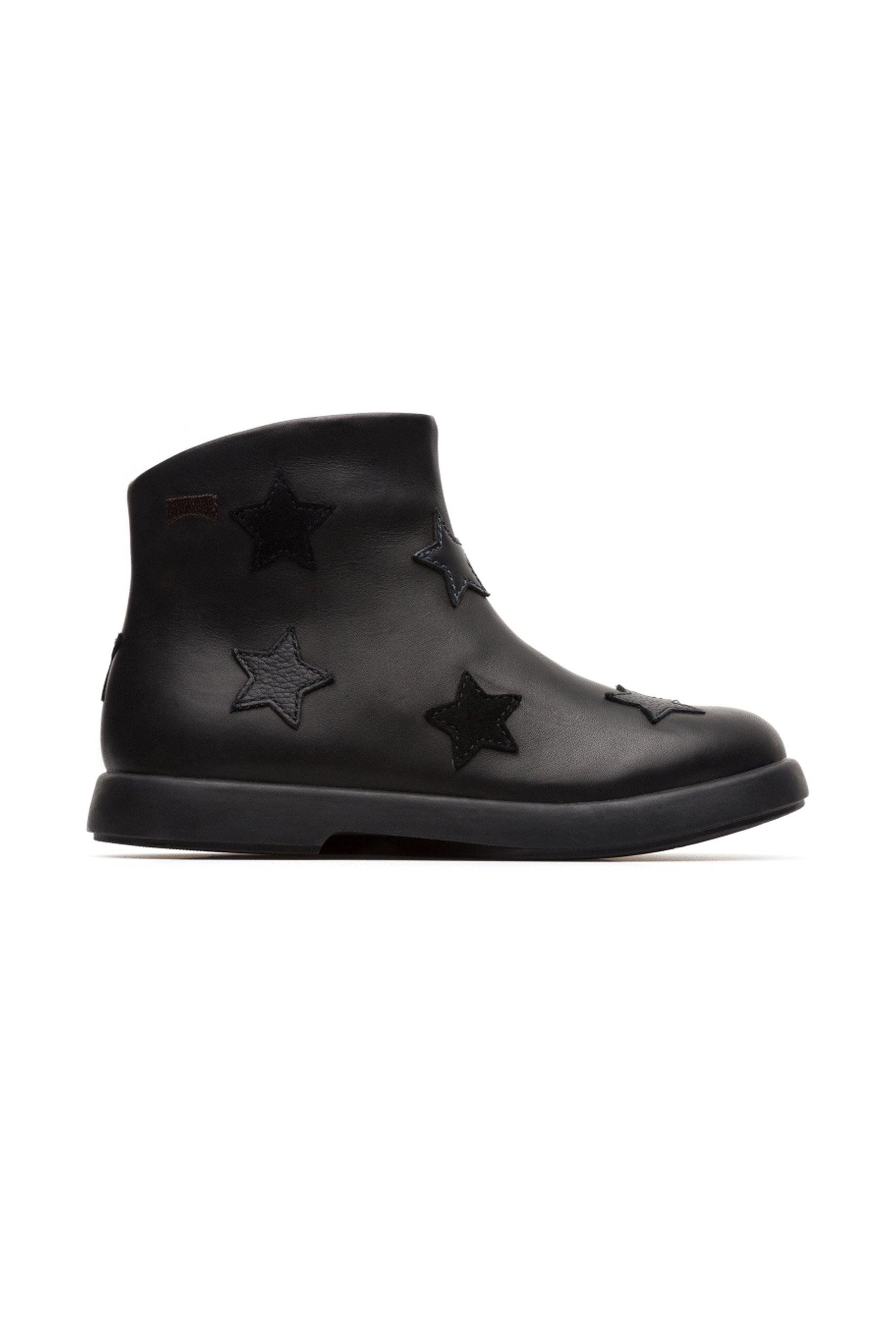 Camper βρεφικά μποτάκια μαύρα με απλικέ αστεράκια Twins - K900162-001-1 -  Μαύρο 92a4a9f9e0d
