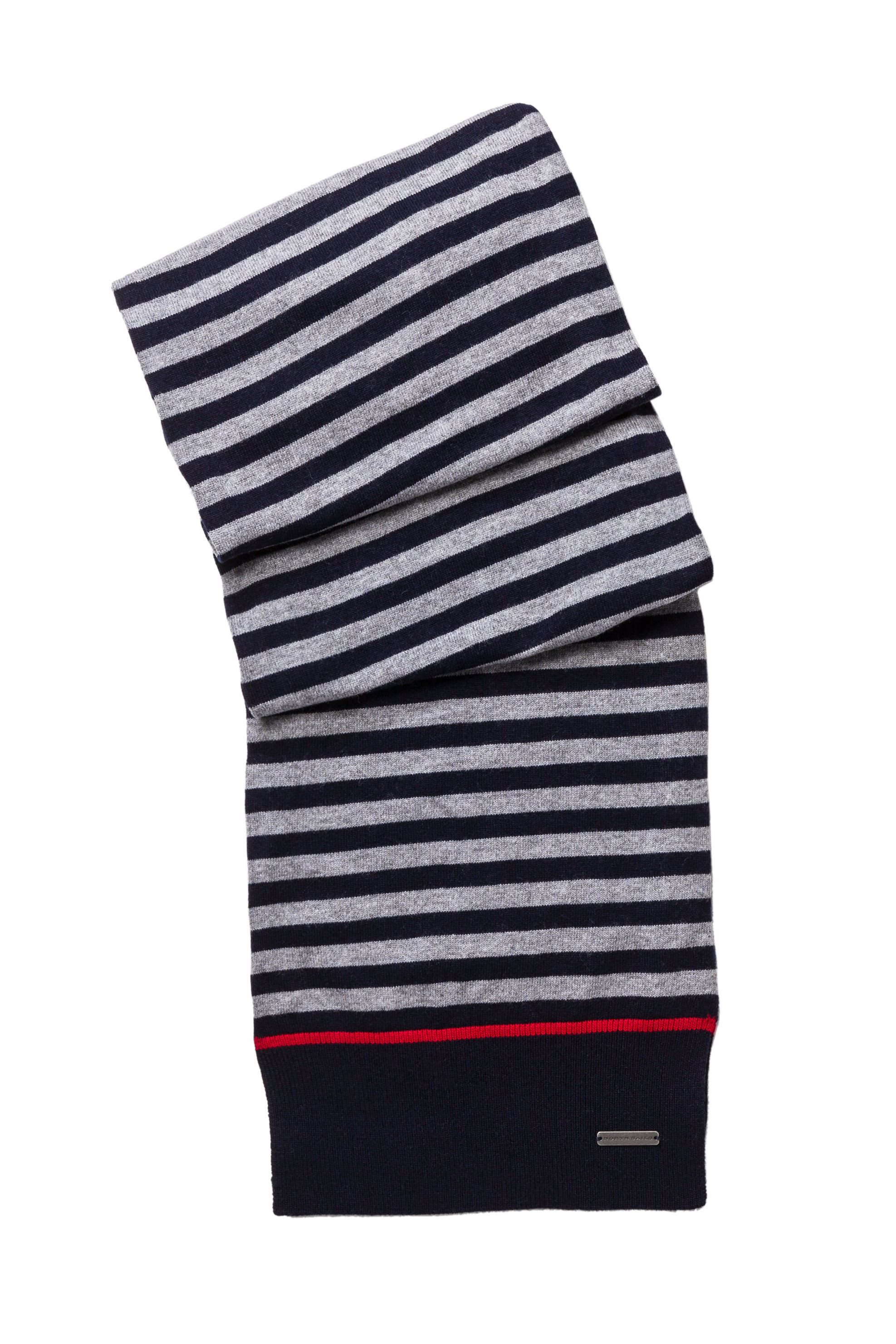 North Sails ανδρικό κασκόλ Striped scarf - 628641 - Γκρι ανδρασ   αξεσουαρ   κασκόλ   μαντήλια