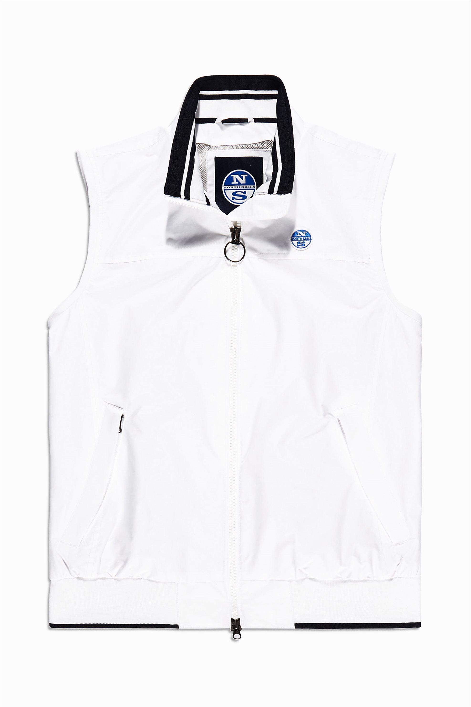 ca8c0ee80cd6 Notos North Sales ανδρικό μπουφάν αμάνικο Slim Vest - 602658 - Λευκό