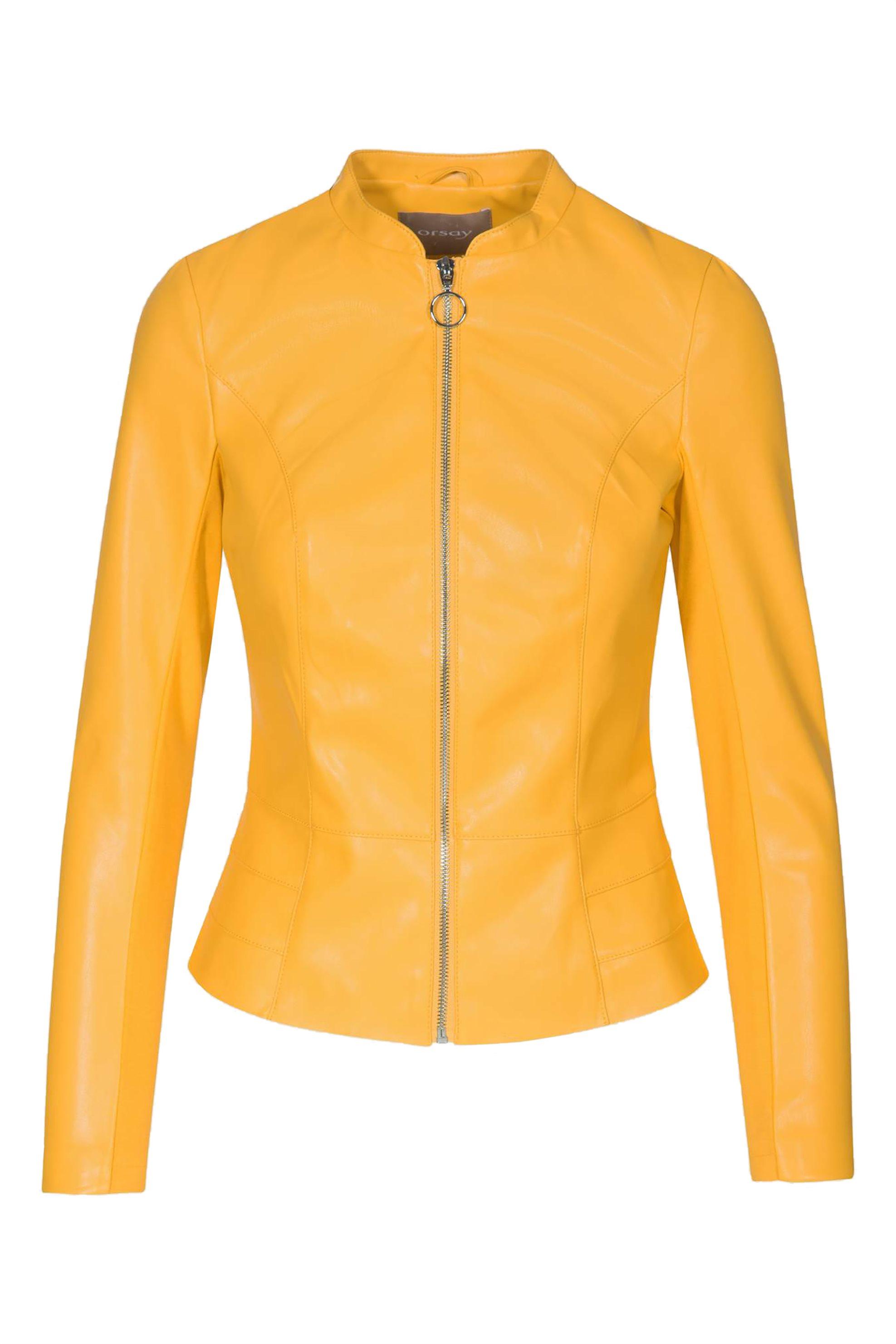 Orsay γυναικείο faux δερμάτινο μπουφάν κίτρινο - 800112-130000 - Κίτρινο γυναικα   ρουχα   πανωφόρια   μπουφάν   σακάκια   δερμάτινα   faux δέρμα