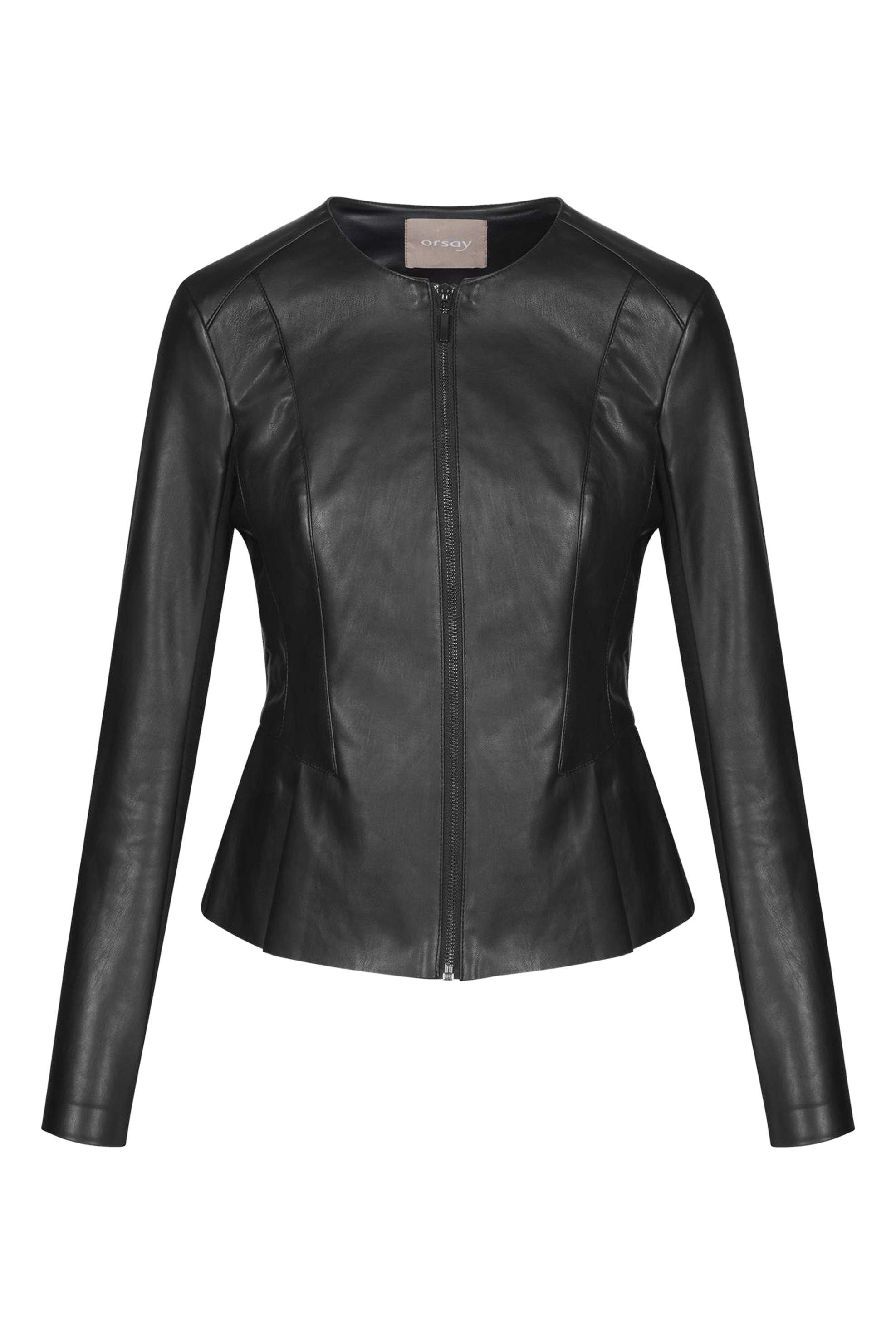 Orsay γυναικείο faux δερμάτινο μπουφάν μεσάτο - 800118-660000 - Μαύρο γυναικα   ρουχα   πανωφόρια   μπουφάν   σακάκια   δερμάτινα   faux δέρμα
