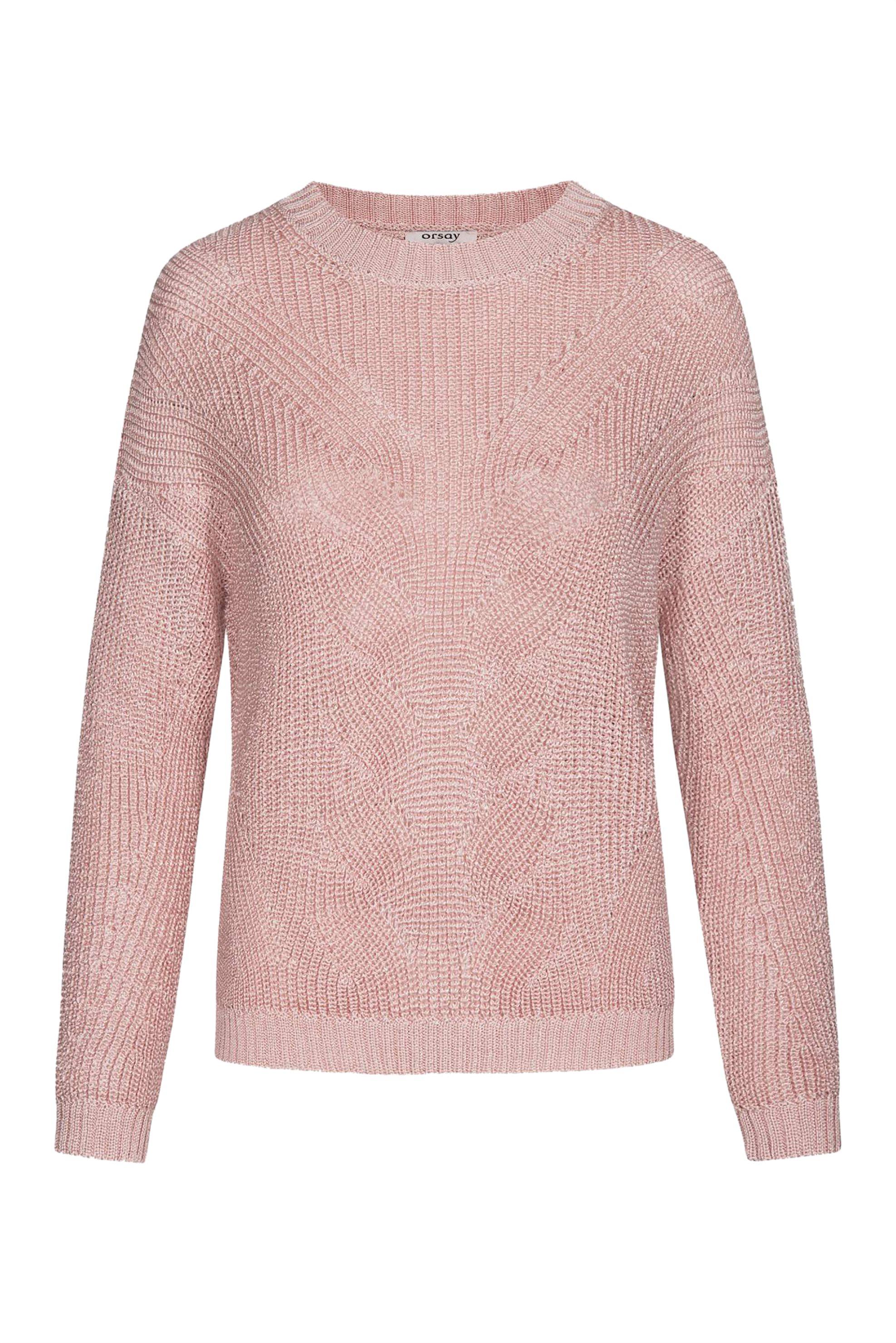 Orsay γυναικεία πλεκτή μπλούζα με σχέδιο - 501978-232000 - Ροζ γυναικα   ρουχα   πλεκτά   πουλόβερ