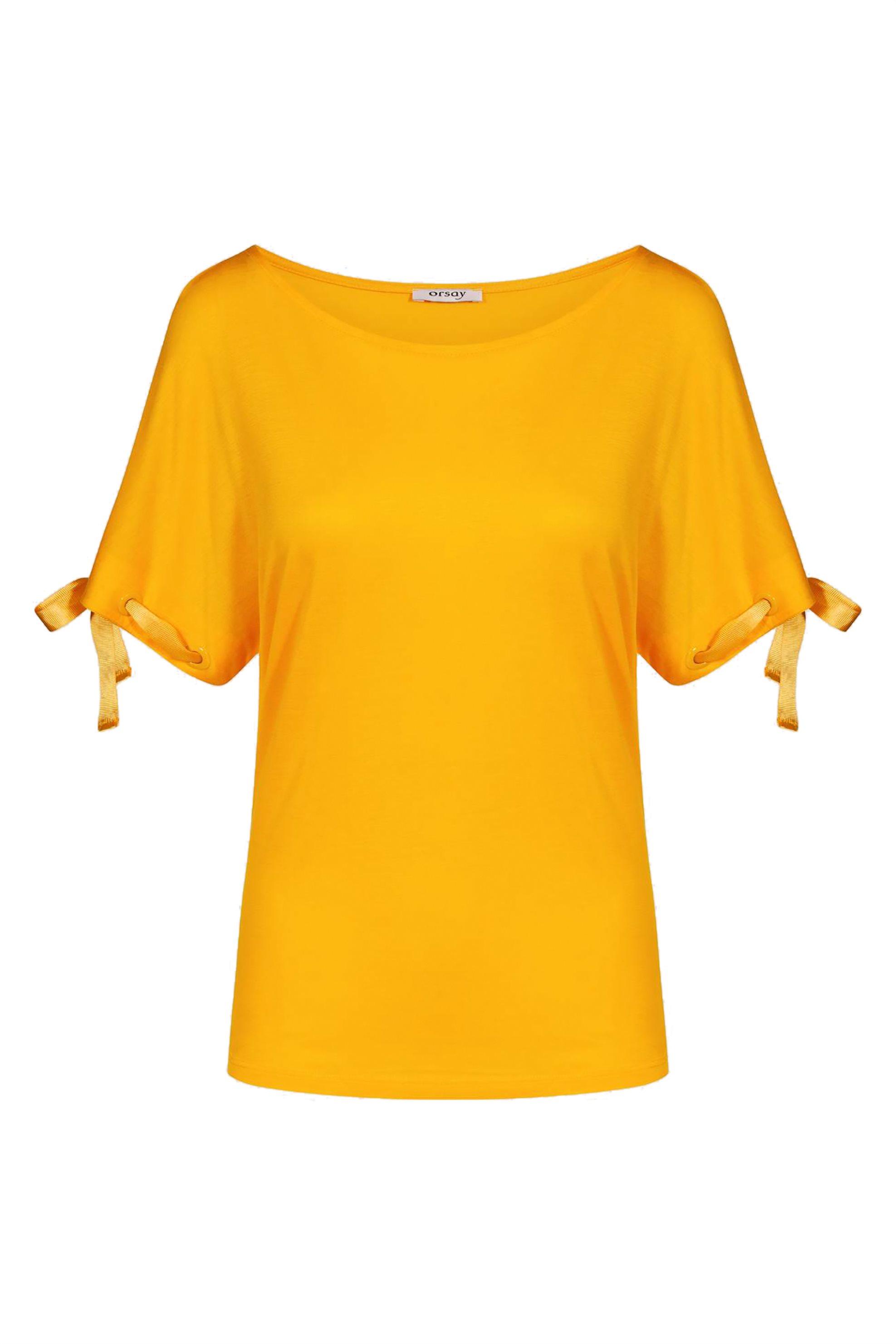Orsay γυναικεία μπλούζα με κορδέλες - 153232-160000 - Κίτρινο γυναικα   ρουχα   tops   μπλούζες   casual
