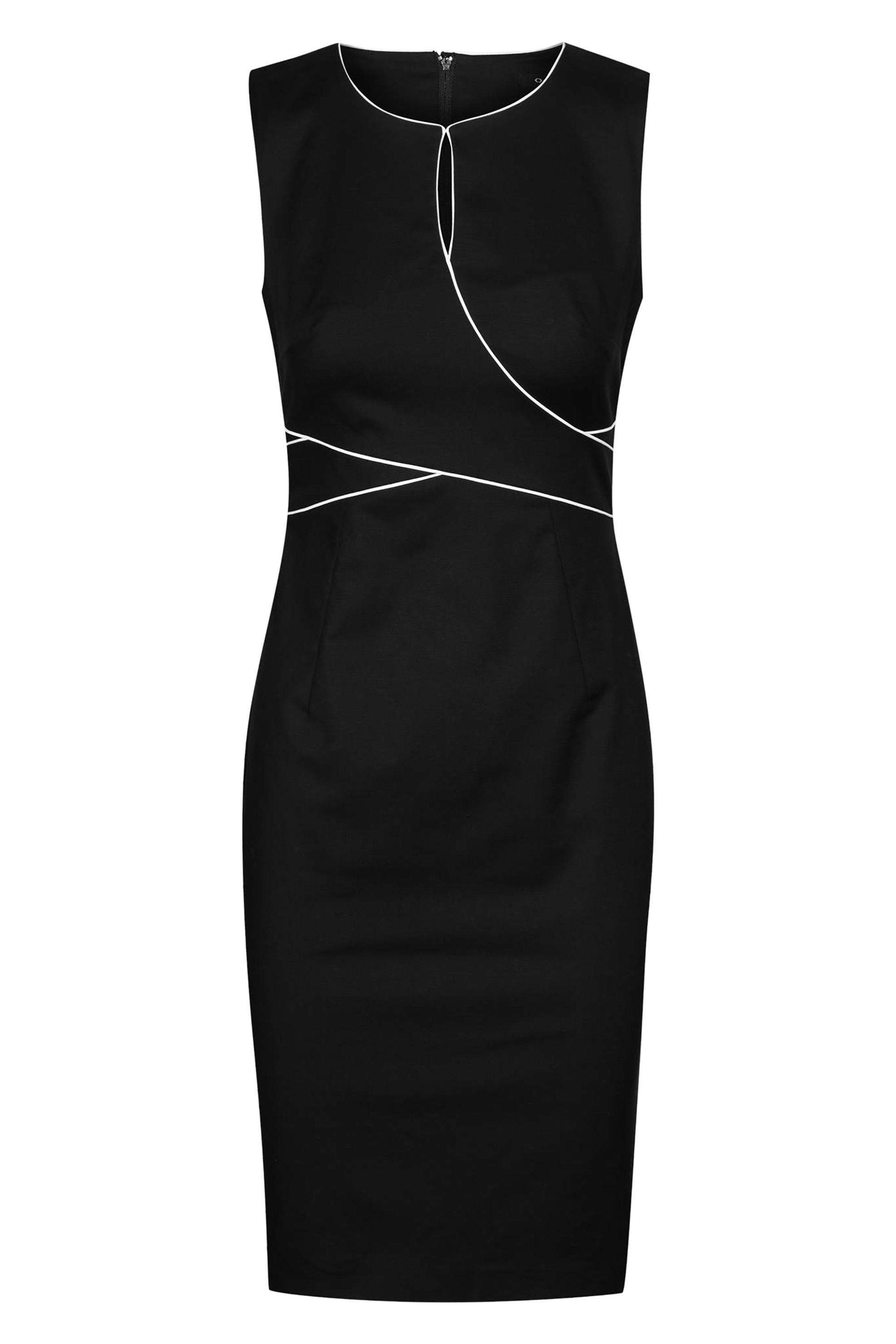 Orsay γυναικείο pencil φόρεμα με διακσμητικό ρέλι - 490200-660000 - Μαύρο γυναικα   ρουχα   φορέματα   mini φορέματα