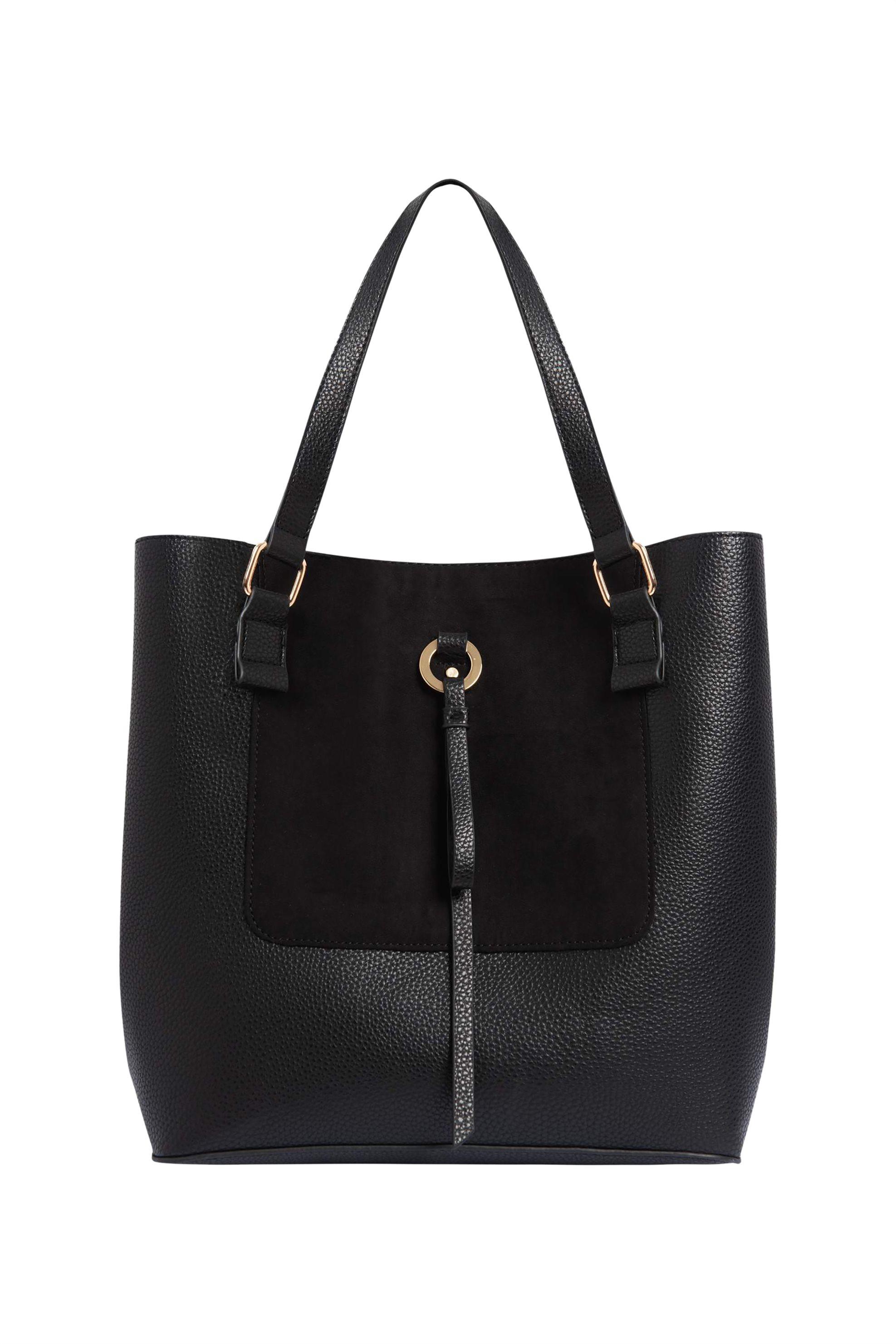 Orsay γυναικεία τσάντα ωμού με suede λεπτομέρεια - 905111-660000 - Μαύρο γυναικα   τσαντεσ   ώμου   shopper bags