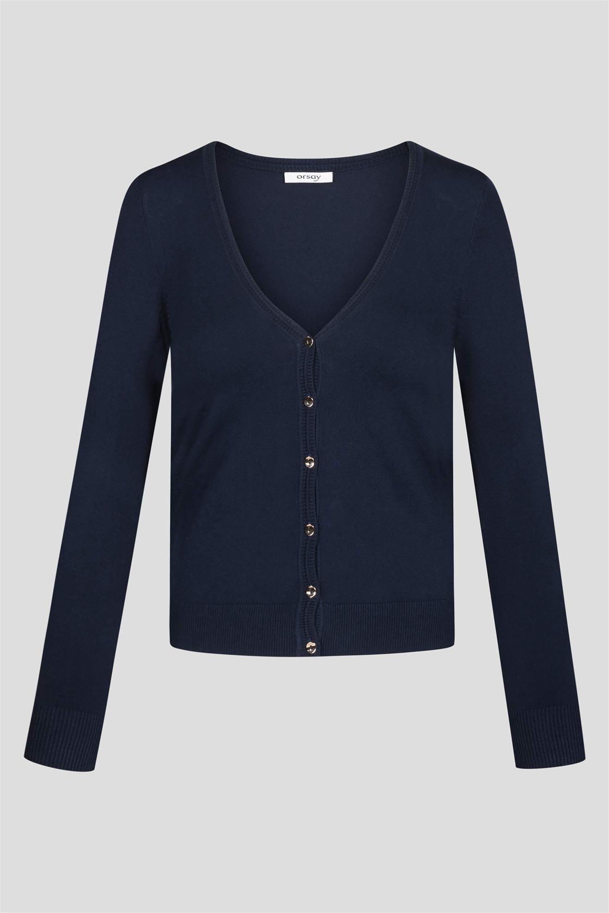 Orsay γυναικεία μονόχρωμη ζακέτα - 510070-526000 - Μπλε Σκούρο