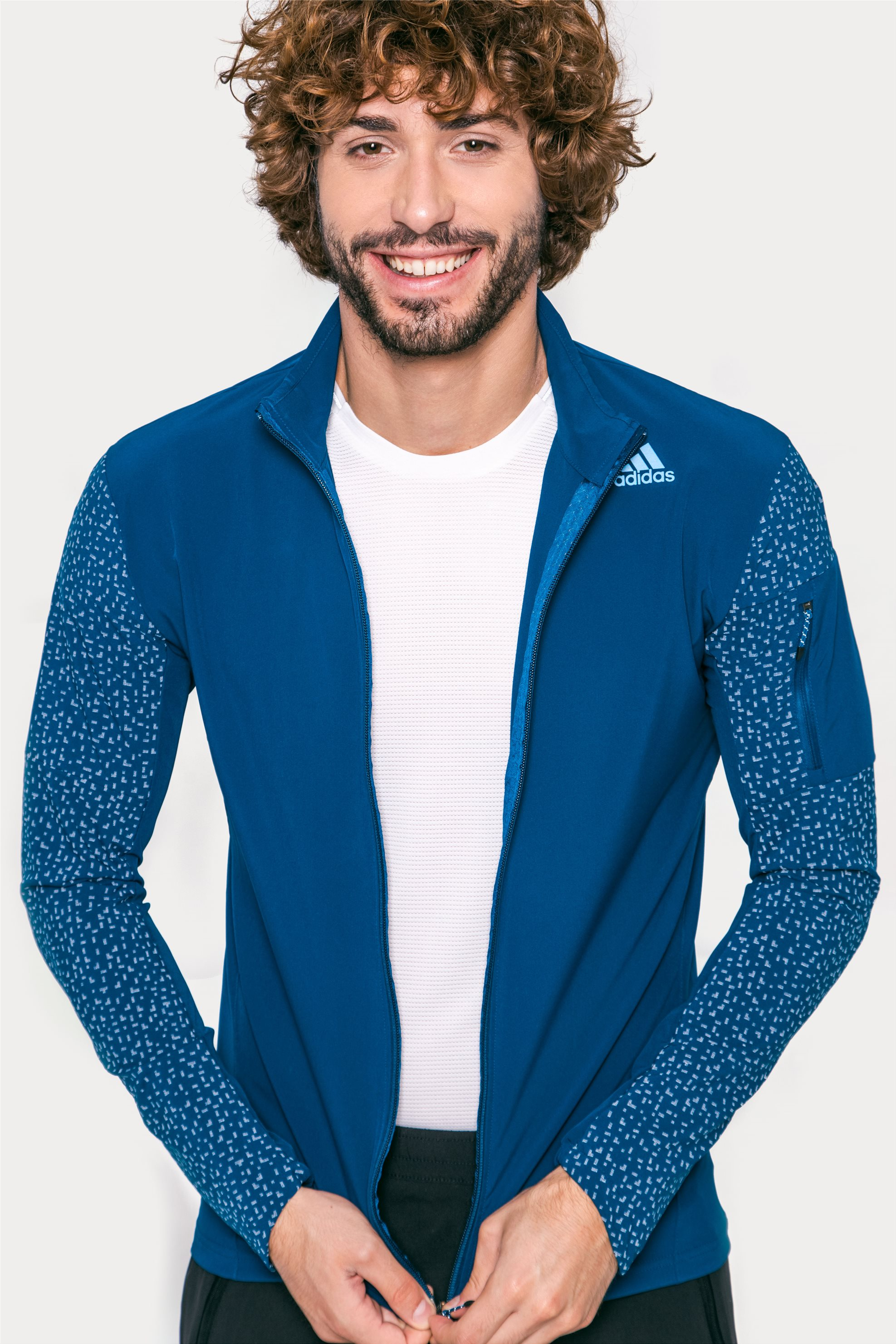 Ανδρική ζακέτα Adidas - BQ7251 - Μπλε ανδρασ   αθλητικα   αθλητικά ρούχα   ζακέτες