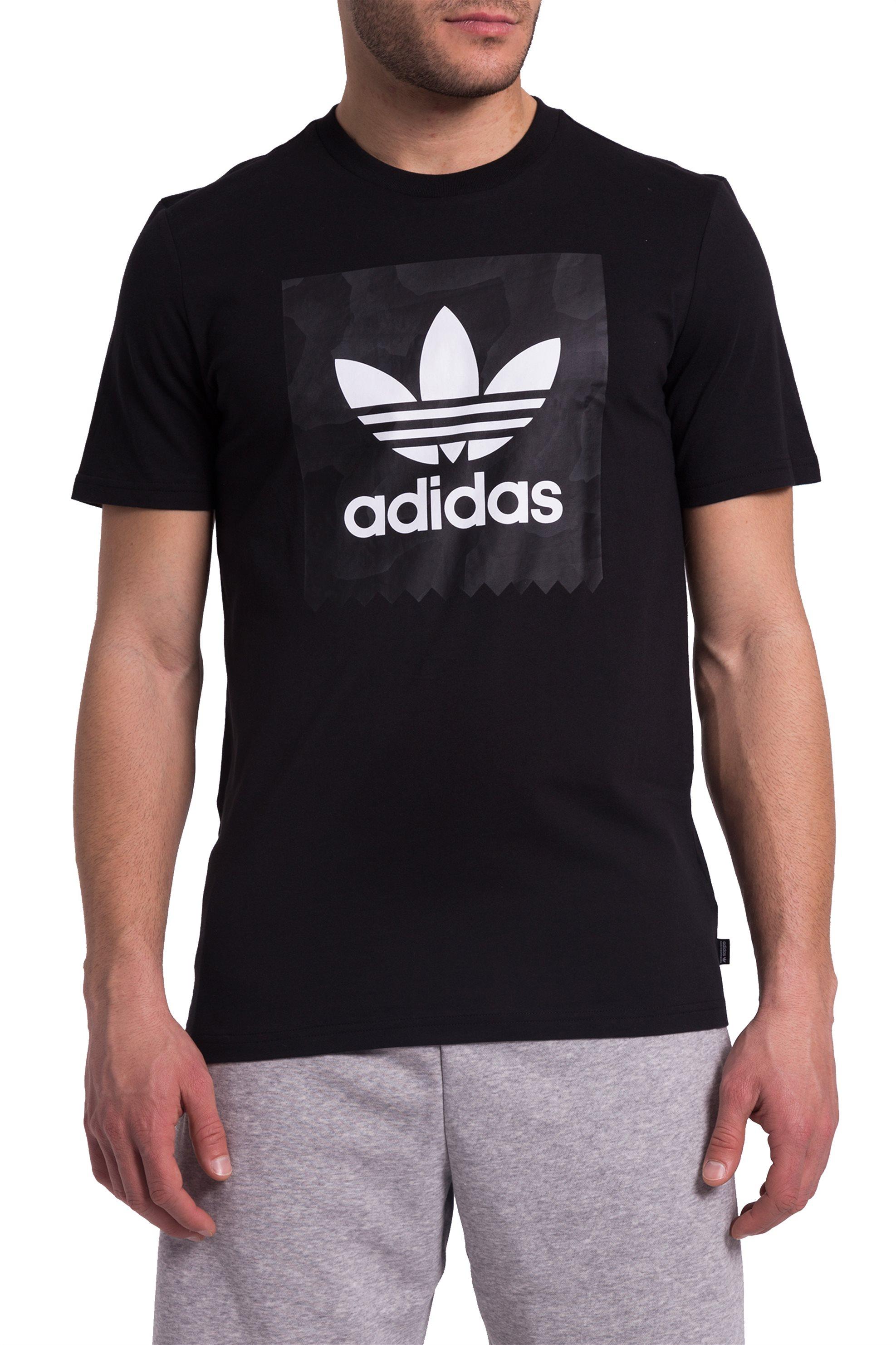 Ανδρικό μαύρο Τ-shirt BB Warp Adidas - CF3097 - Μαύρο ανδρασ   ρουχα   μπλούζες   t shirts
