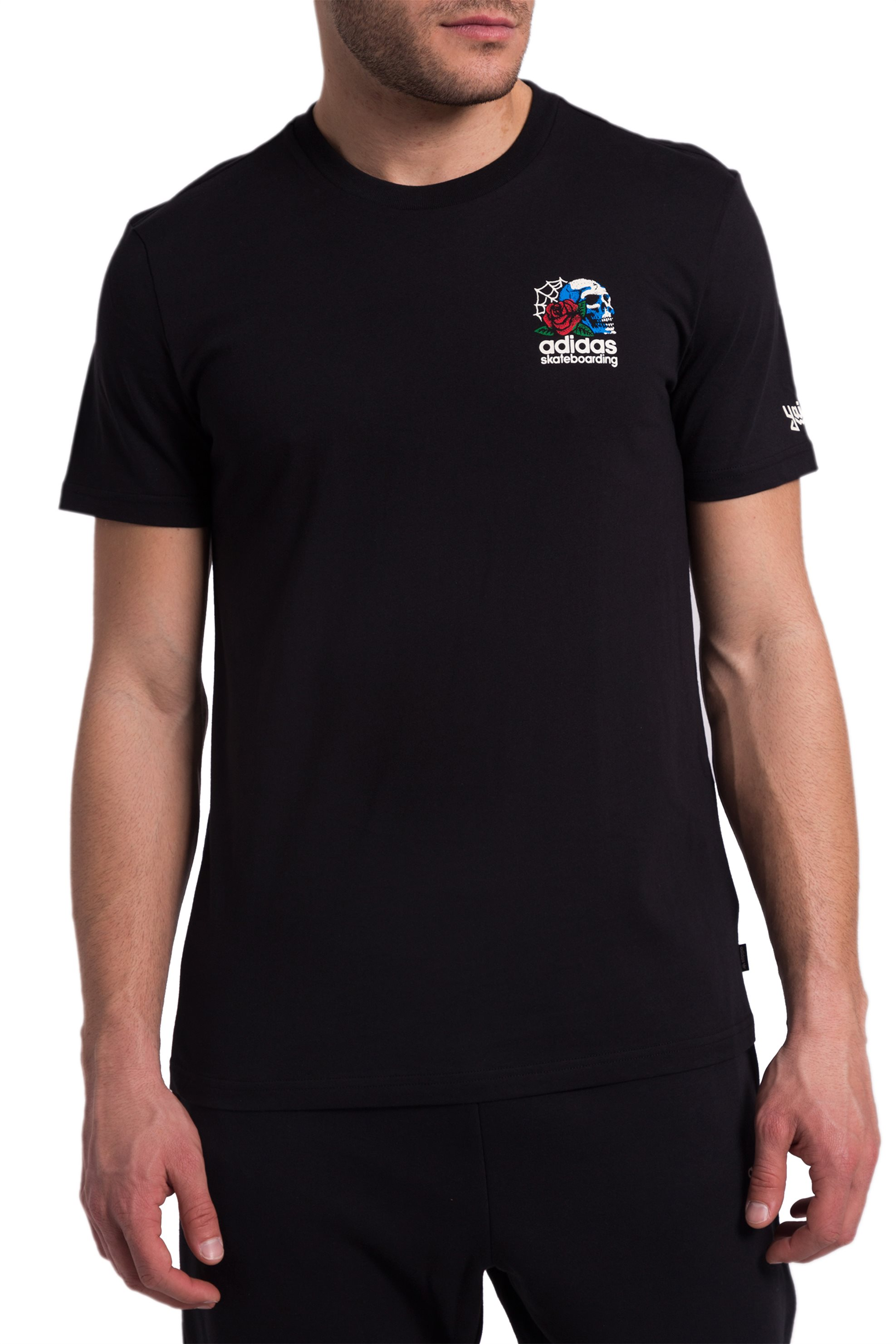 Ανδρικό μαύρο Τ-shirt Shackles Adidas - CF3118 - Μαύρο ανδρασ   ρουχα   μπλούζες   t shirts