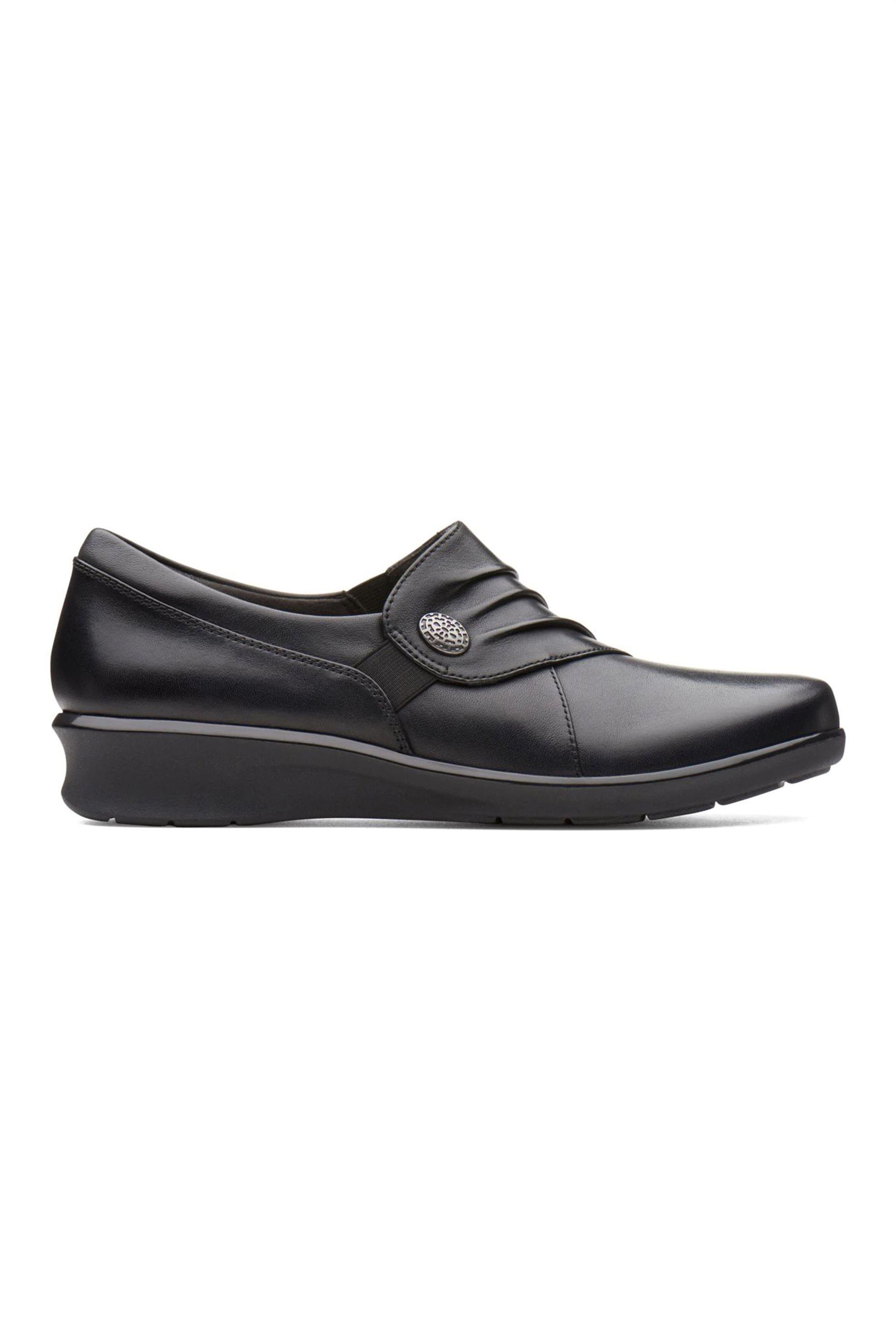 Clarks γυναικεία παπούτσια με σούρα και κουμπί «Hope Roxanne» – 26137200 – Μαύρο