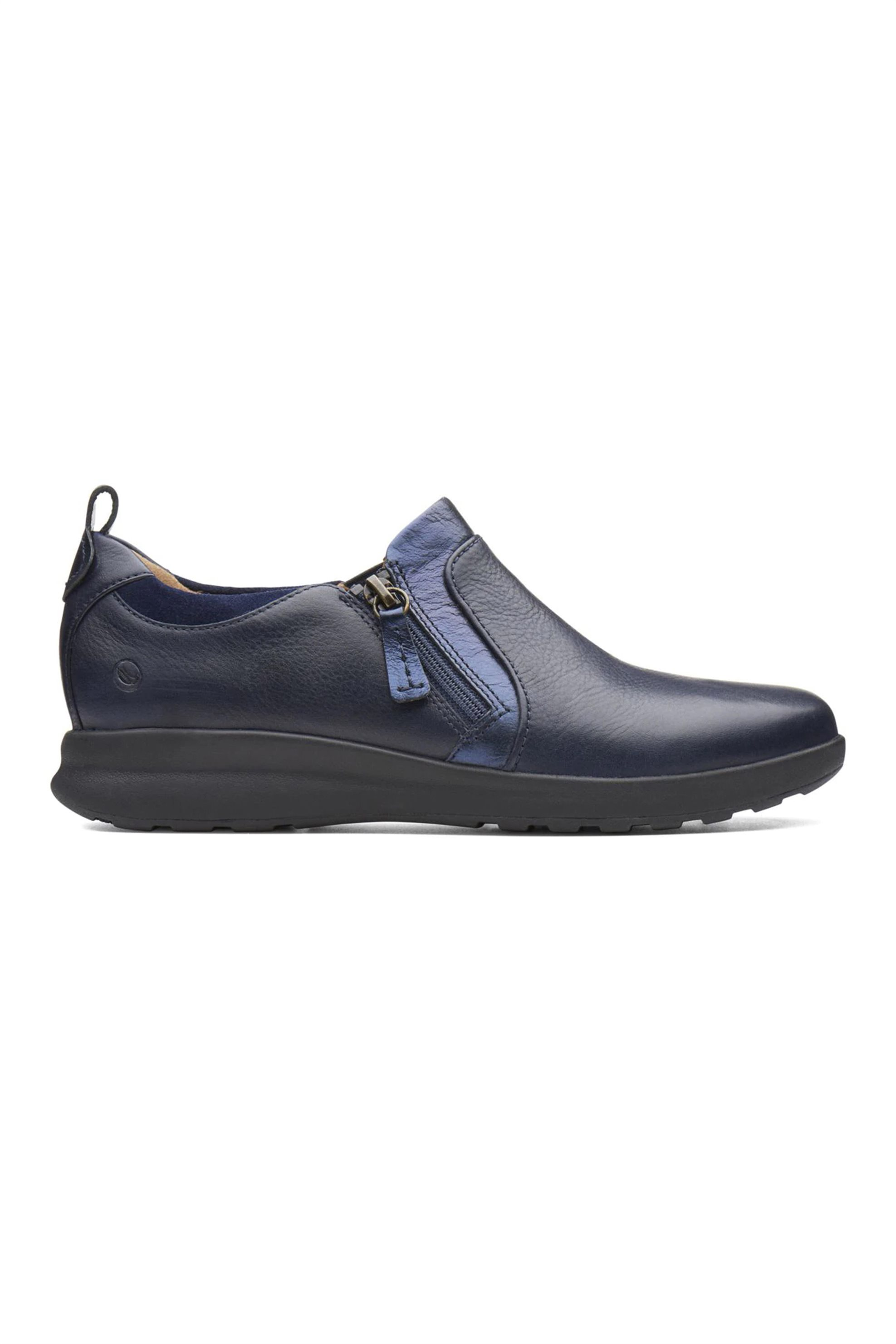 Clarks γυναικεία παπούτσια δίχρωμα «Un Adorn Zip» – 26138355 – Μπλε Σκούρο