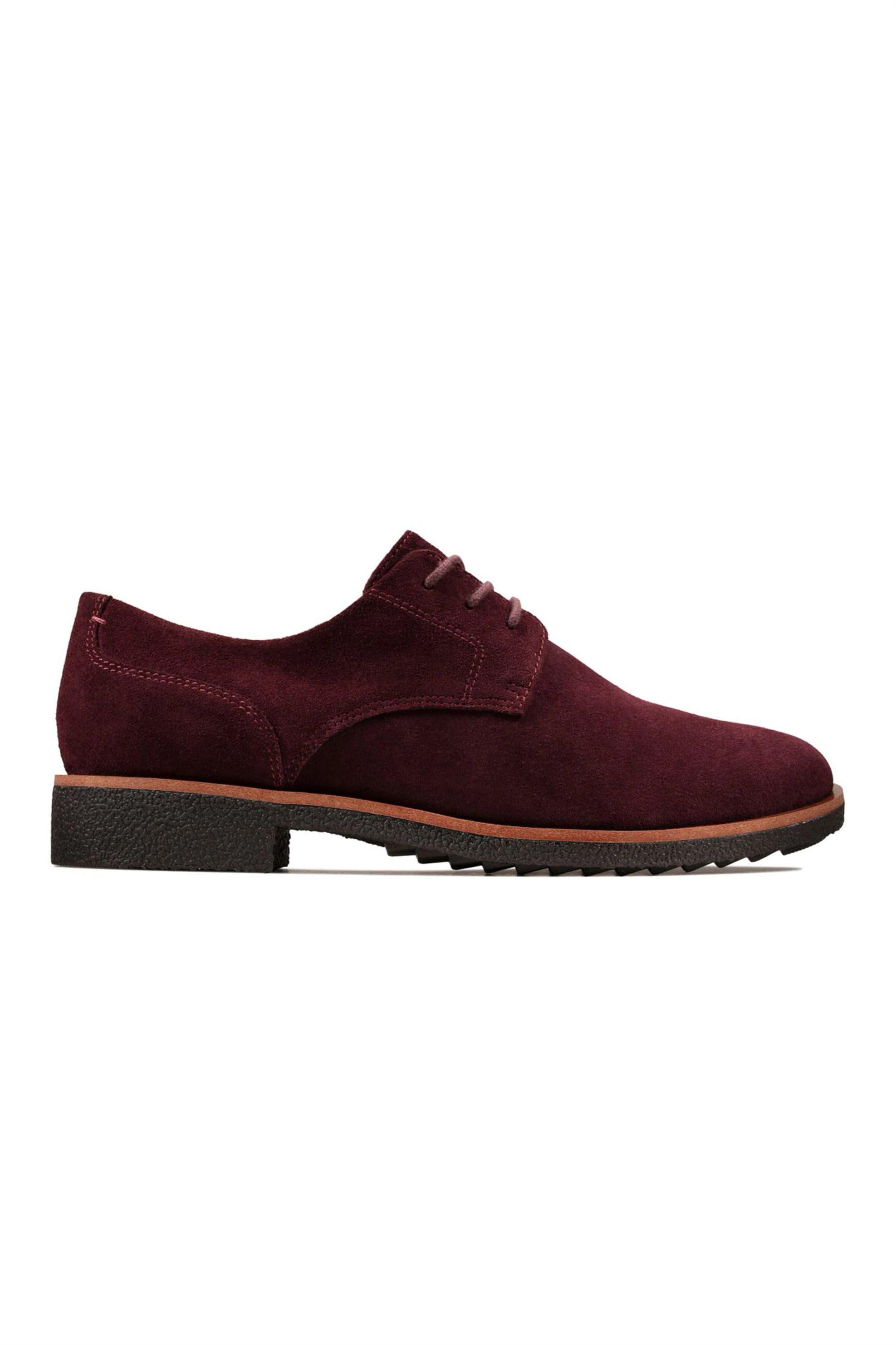 Clarks γυναικεία παπούτσια suede Oxford «Griffin Lane» – 26143112 – Μπορντό