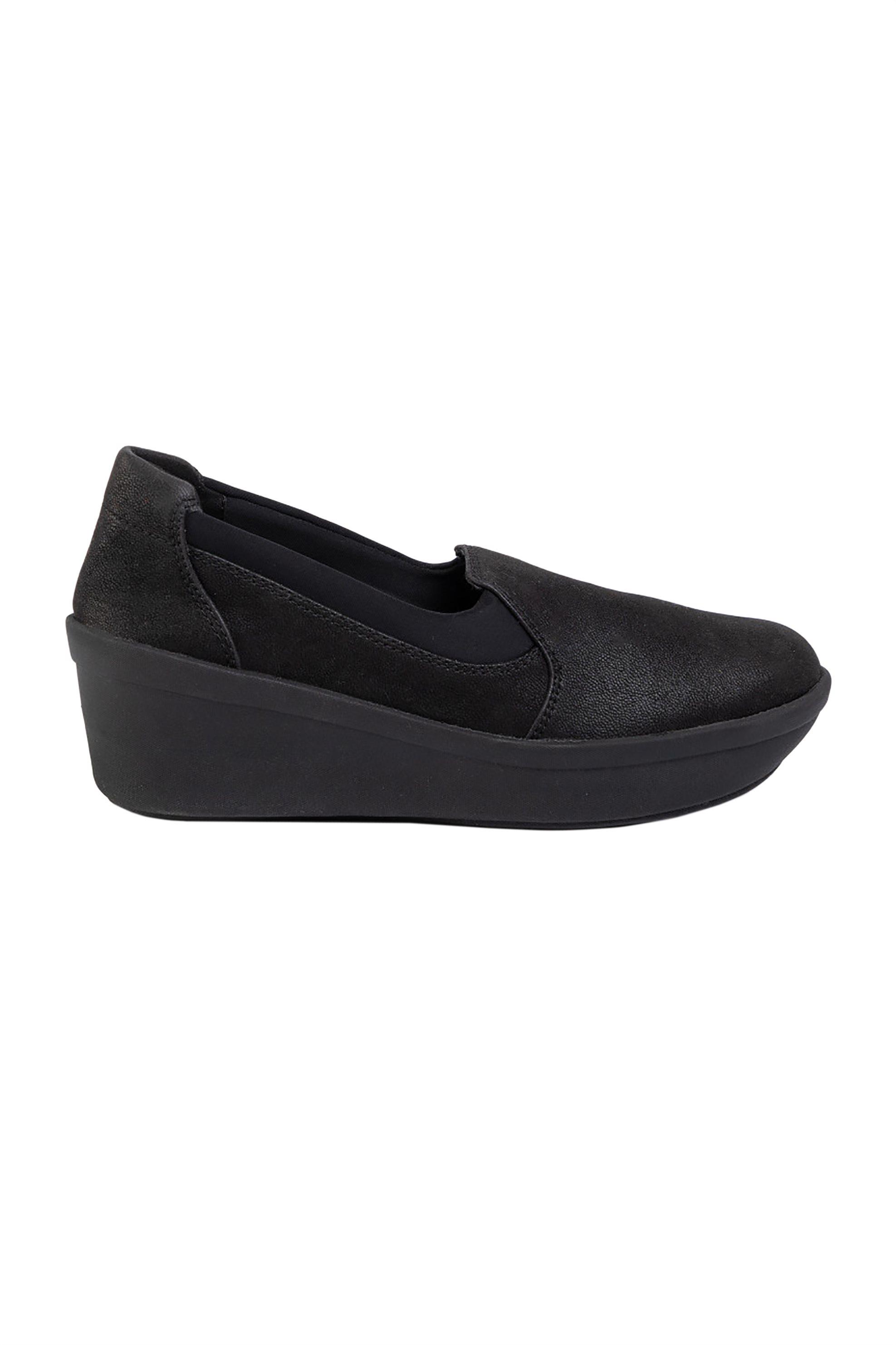 Clarks γυναικεία μονόχρωμα παπούτσια με ενιαίο τακούνι ''Step Rose Moon'' - 26145987 - Μαύρο