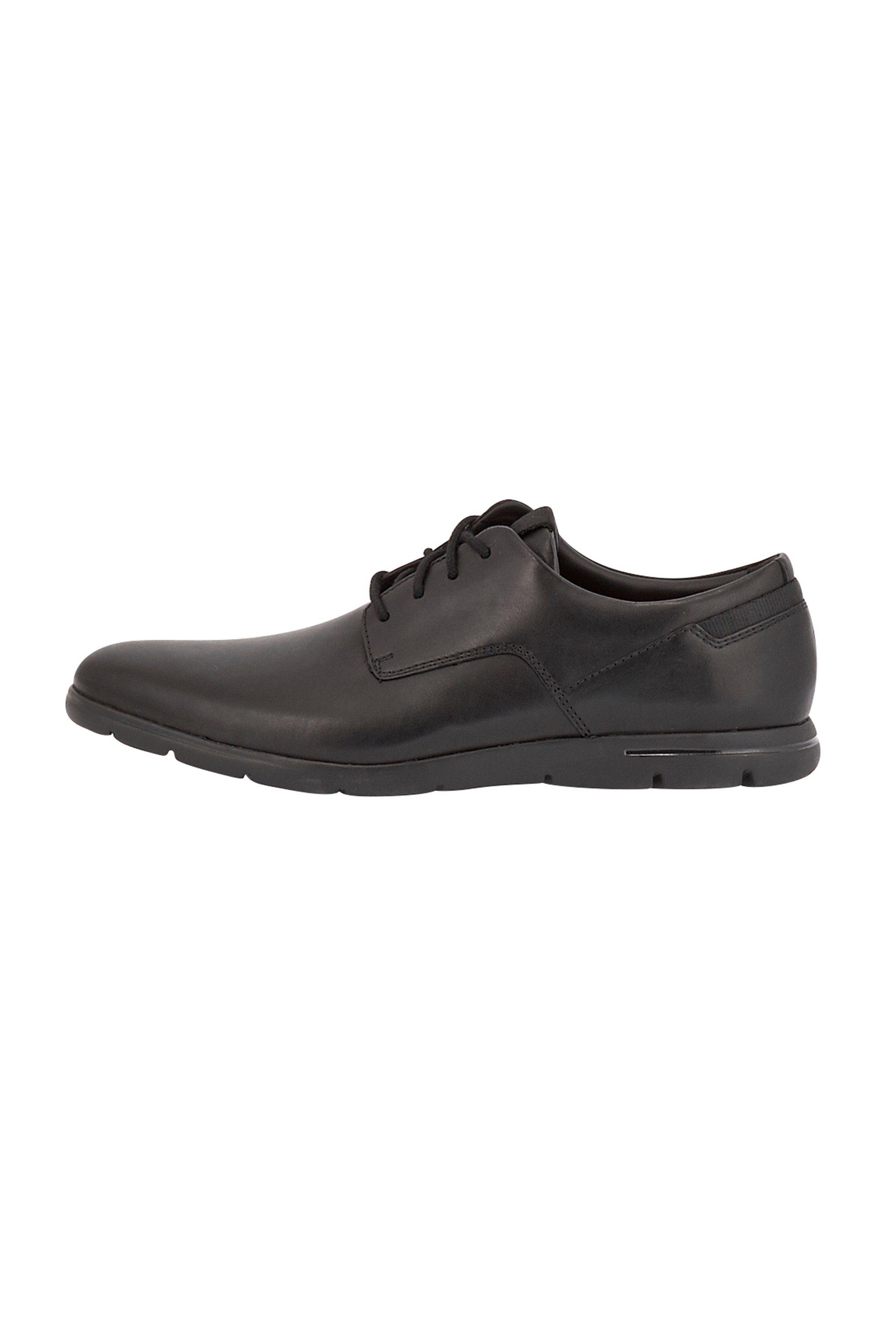 Clarks ανδρικά δερμάτινα παπούτσια oxford «Vennor Walk» – 26131748 – Μαύρο