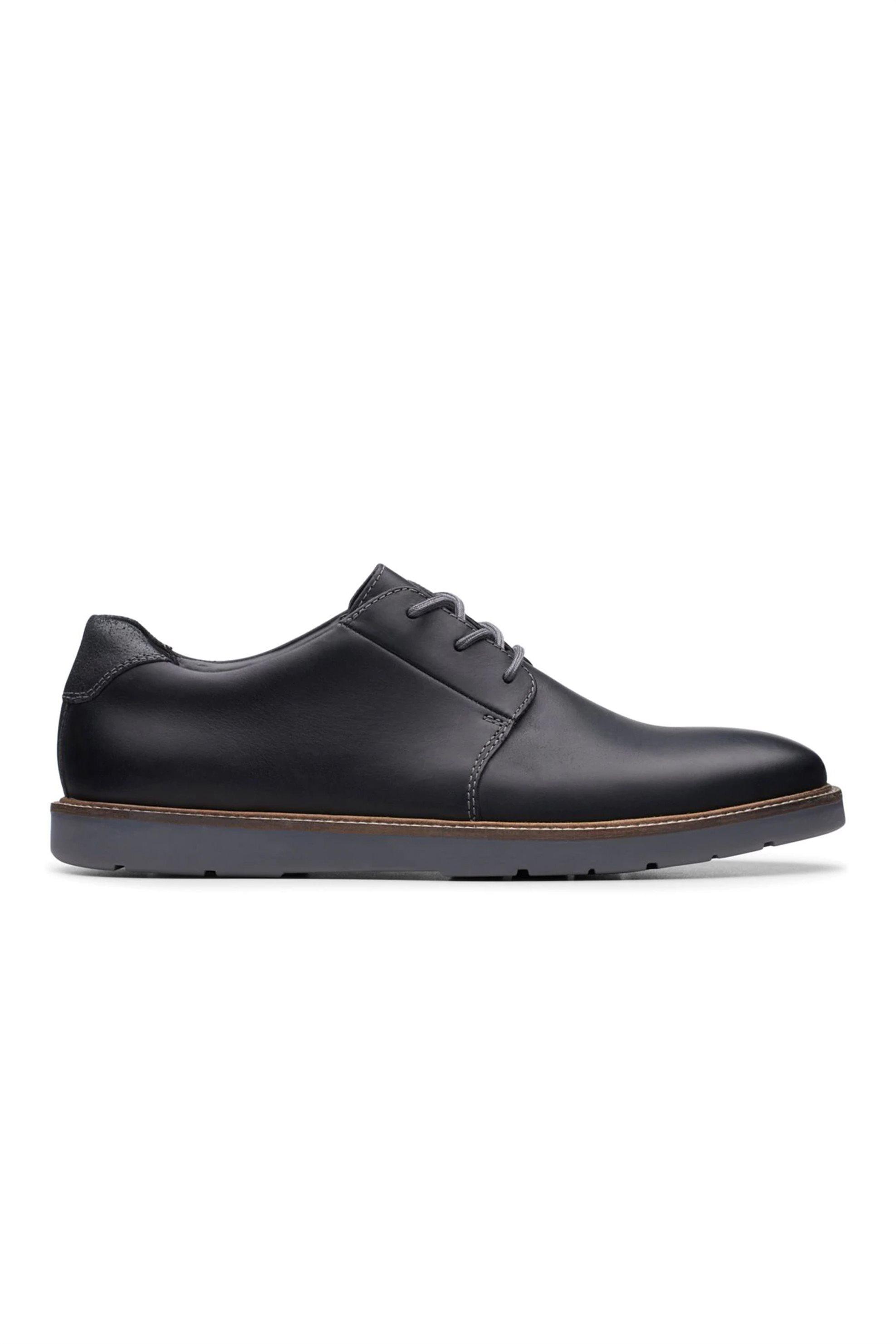 Clarks ανδρικά δερμάτινα παπούτσια «Grandin Plain» – 26138371 – Μαύρο