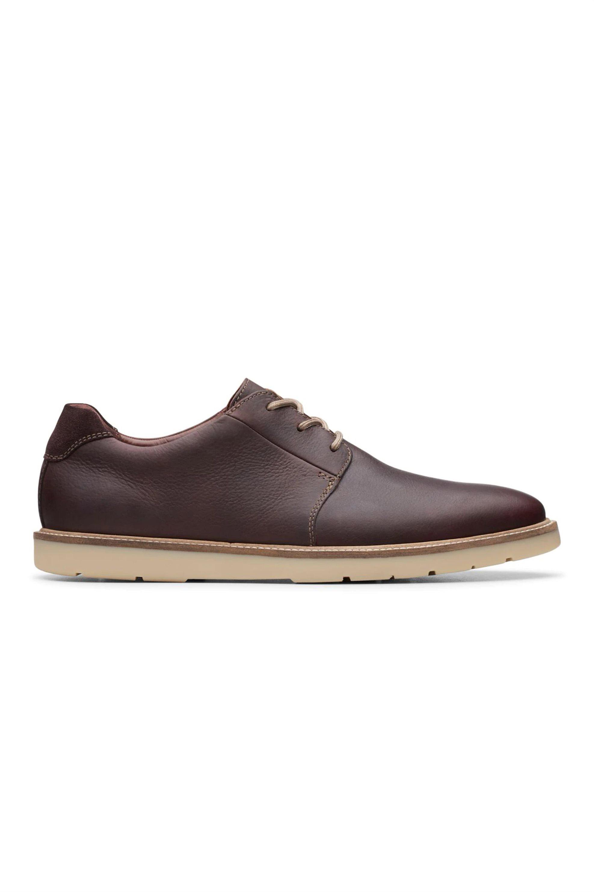 Clarks ανδρικά δερμάτινα παπούτσια «Grandin Plain» – 26141923 – Καφέ